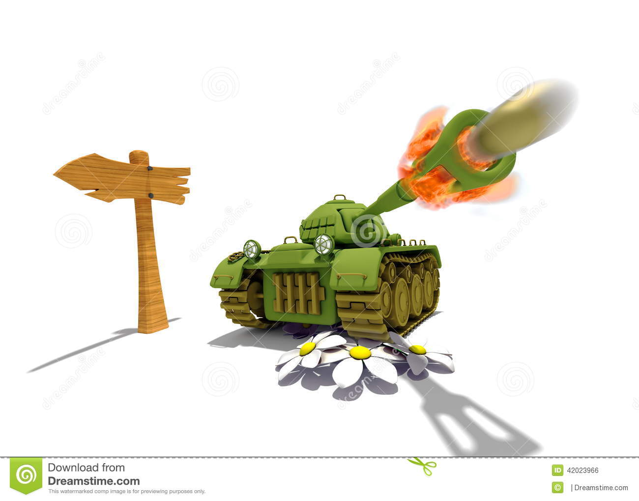 Cartoon Tank Stock Illustration - Image: 42023966