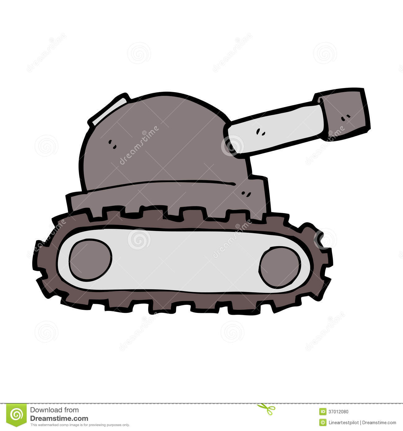 Cartoon tank stock vector. Image of hand, character ...