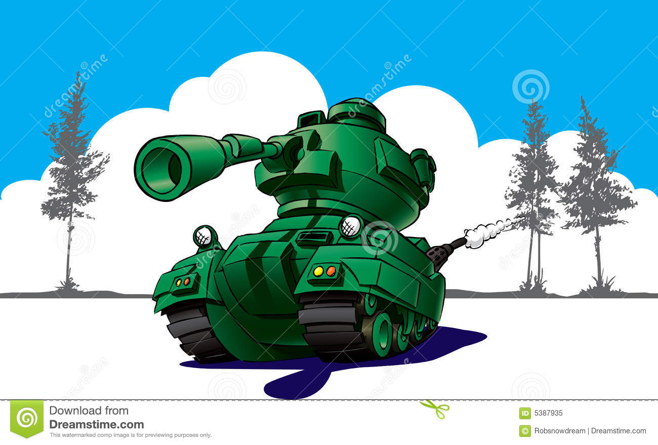 Cartoon tank in wargames