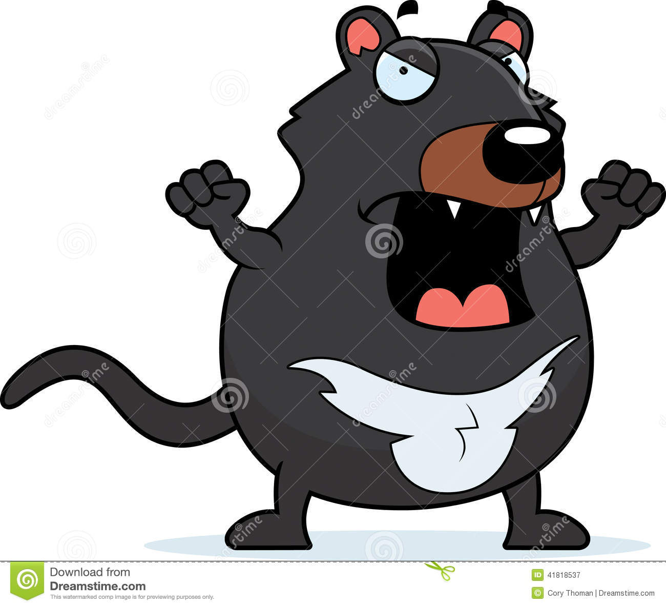 Cartoon Tasmanian Devil Angry Stock Vector - Image: 41818537