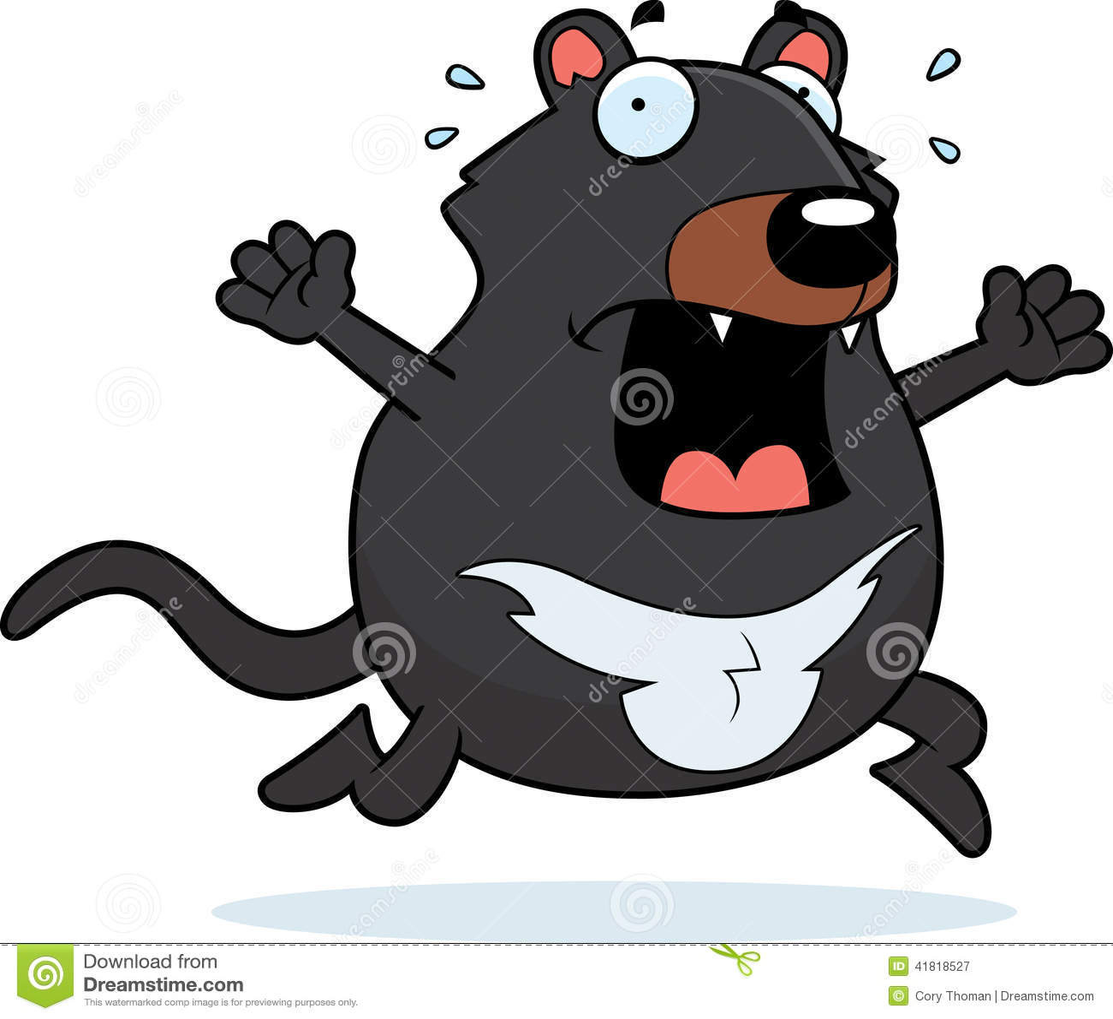 Cartoon Tasmanian Devil Panic