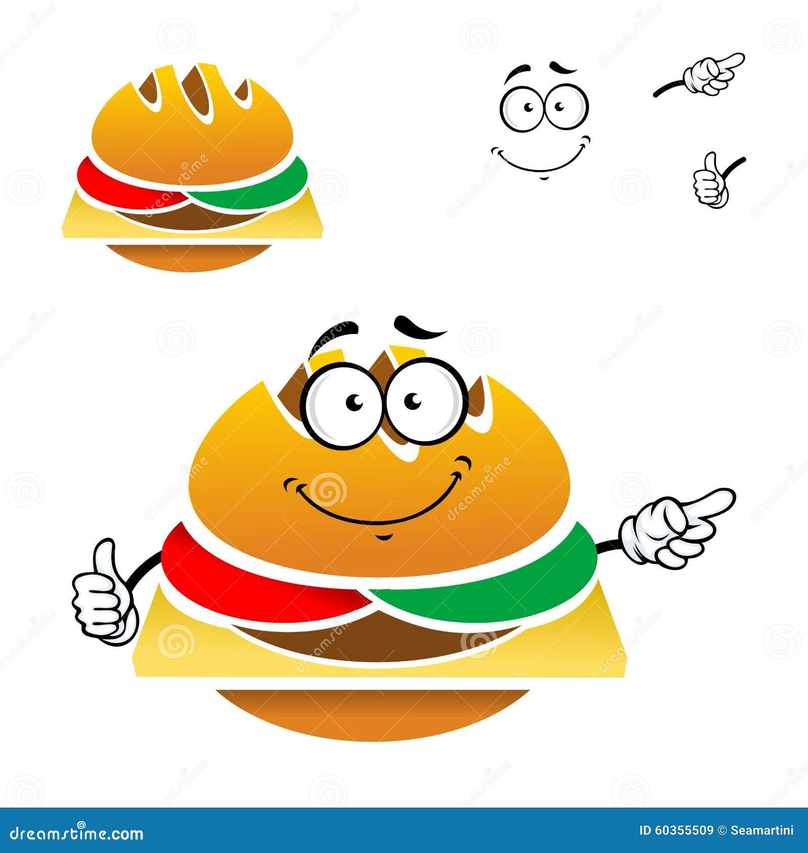 Cartoon Tasty Fast Foo...