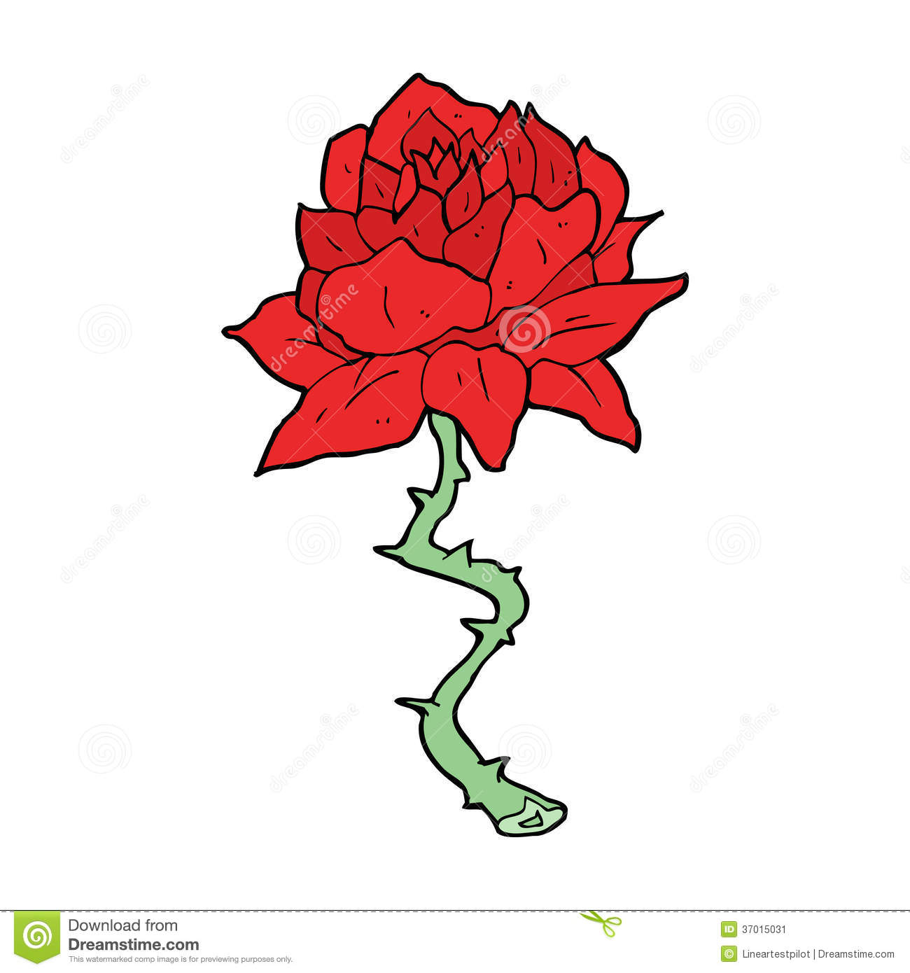 How To Draw A Cartoon Rose By Flowers Pop Culture