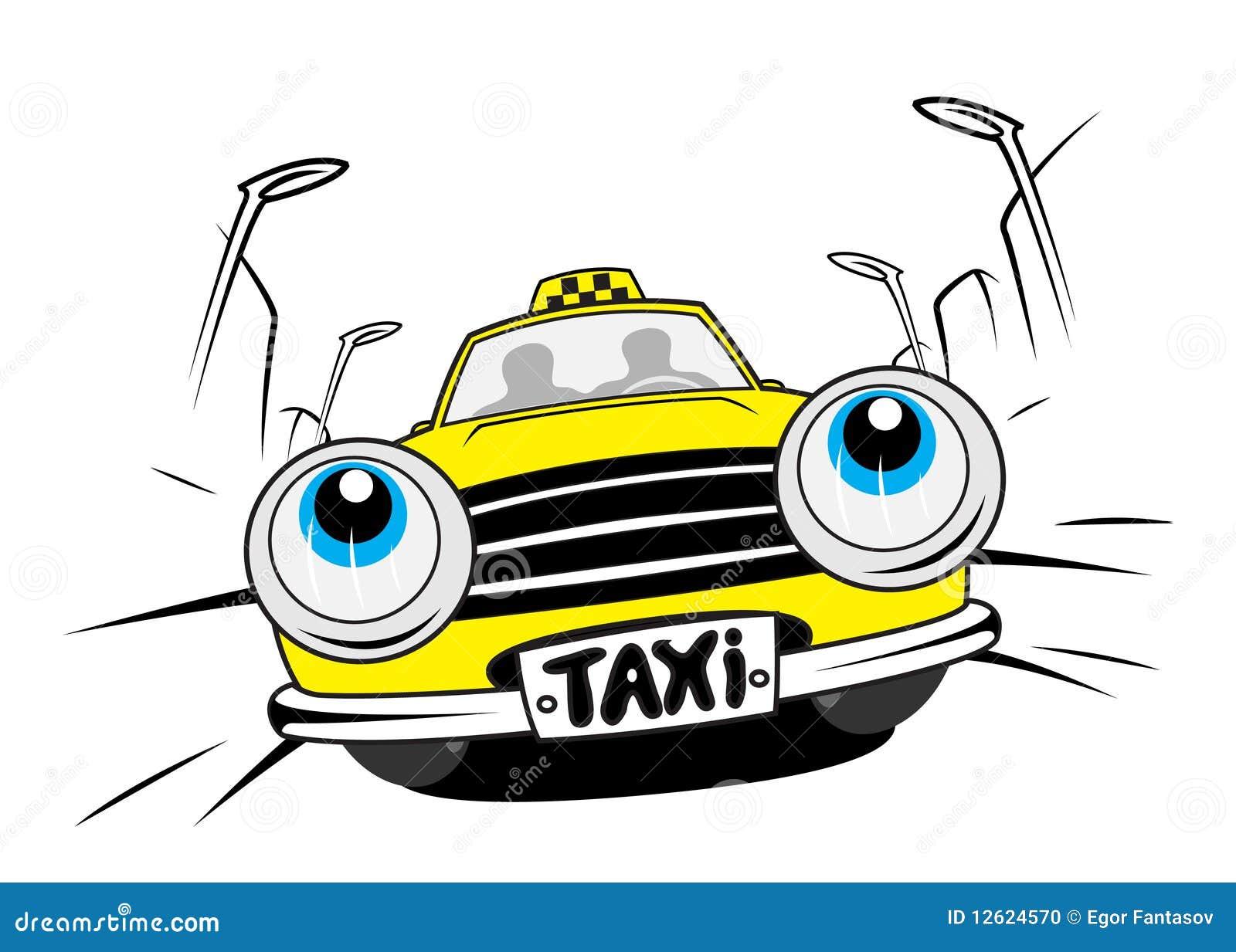 Cartoon Taxi Car Stock Photo - Image: 12624570