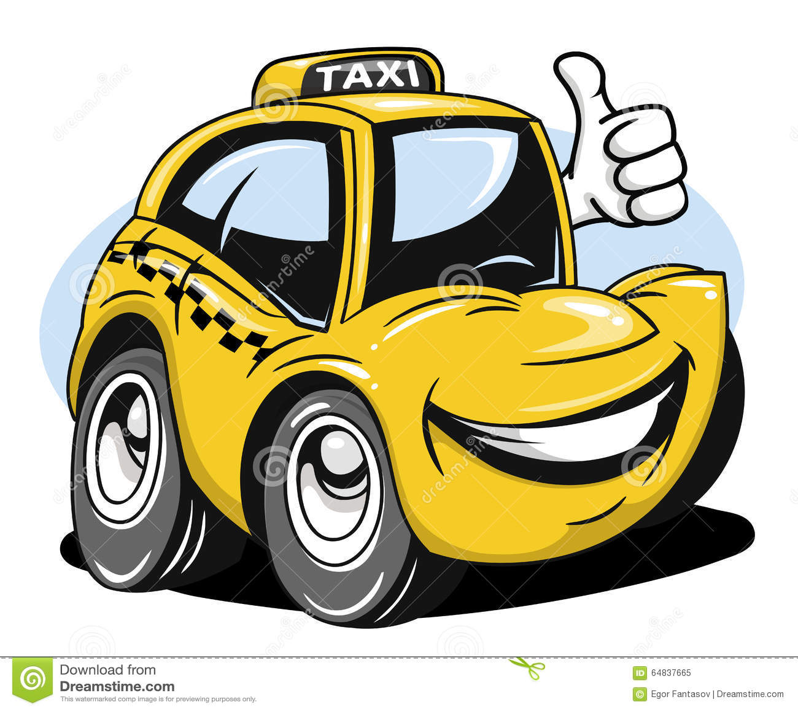 Taxi Car Old Cartoon