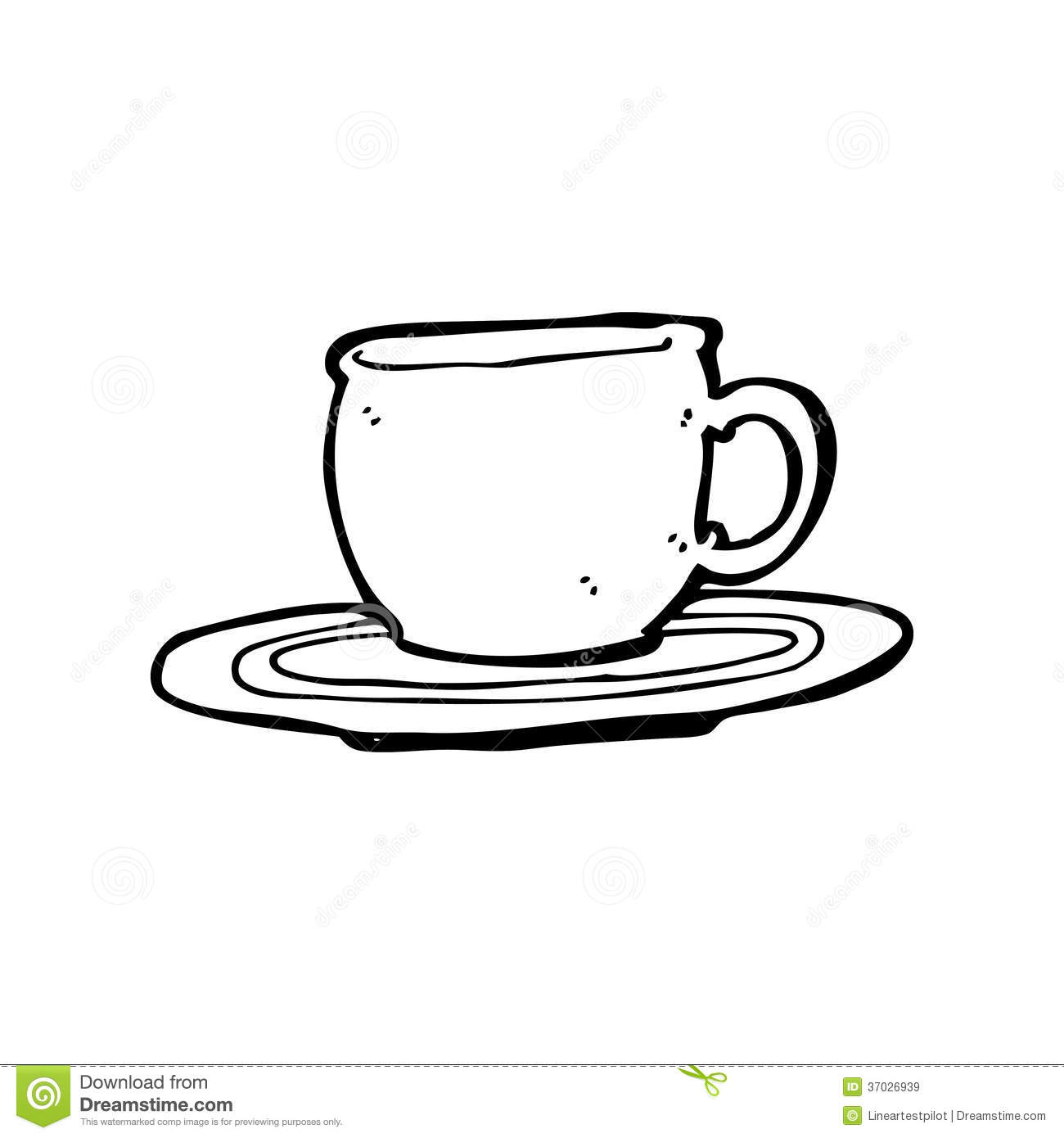 Cartoon Tea Cup Royalty Free Stock Images Image 37026939