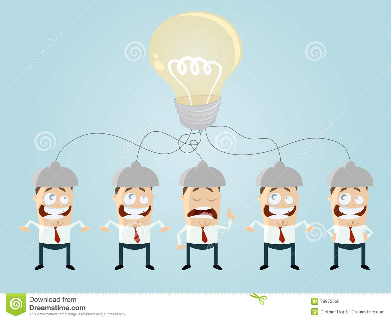Cartoon Team Is Brainstorming Stock Vector - Image: 38975568