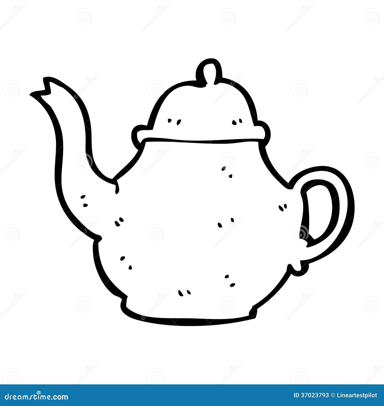 Cartoon Teapot Stock Illustration Illustration Of Doodle 37023793