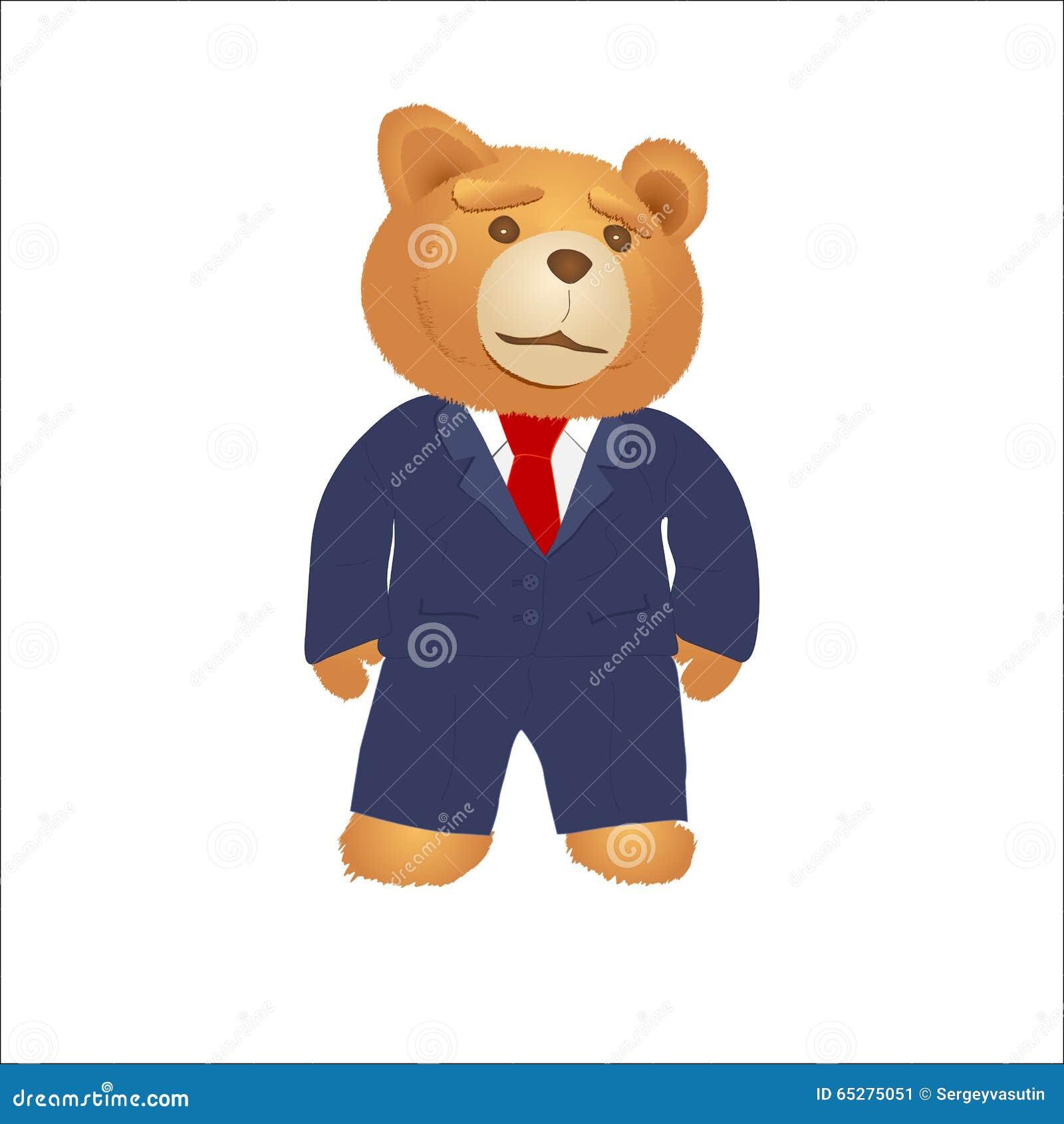 Cute Cartoon Teddy Bear Vector Illustration Download Teddy