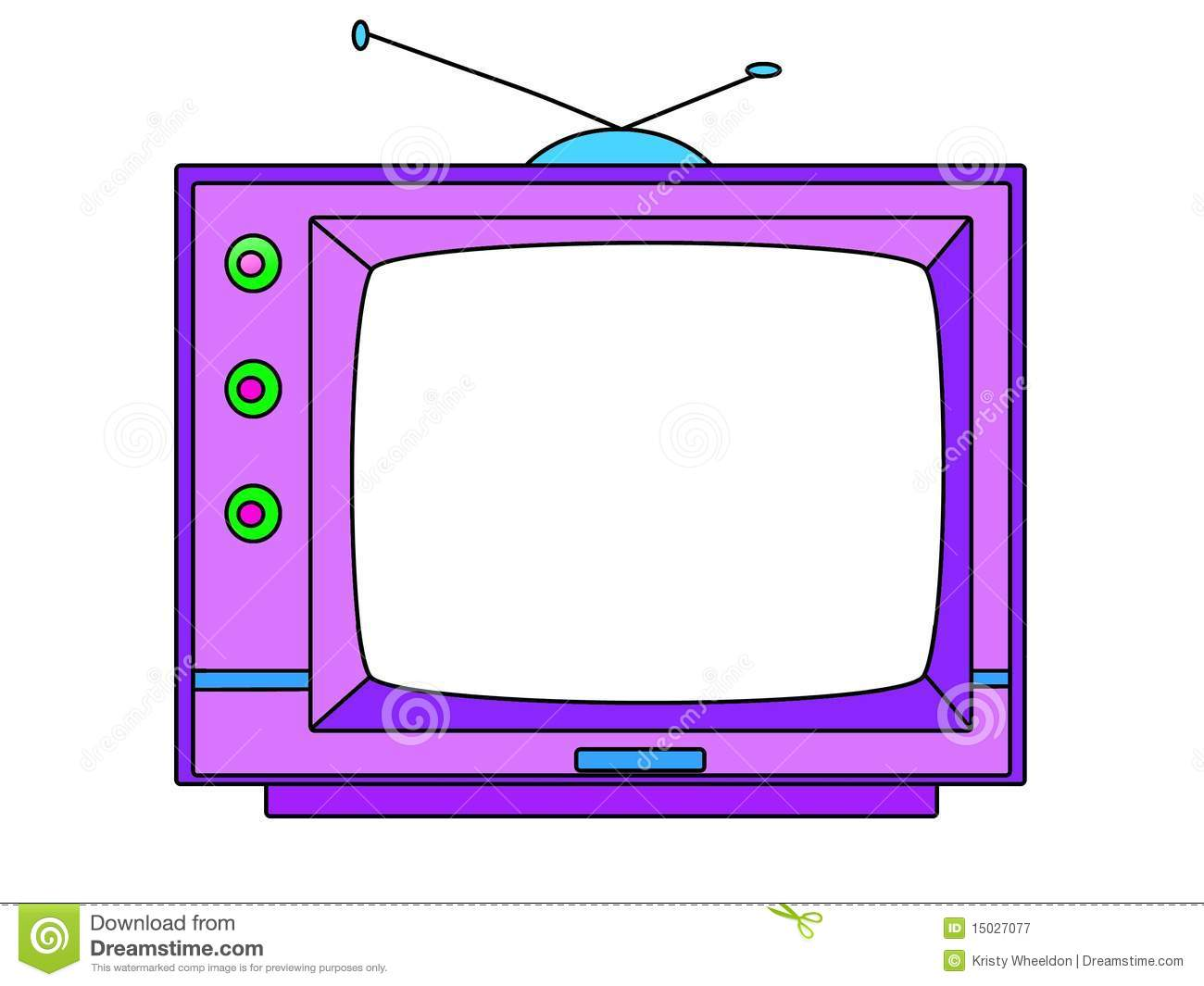 Cartoon Television Set - Illustration Royalty Free Stock Photography ...