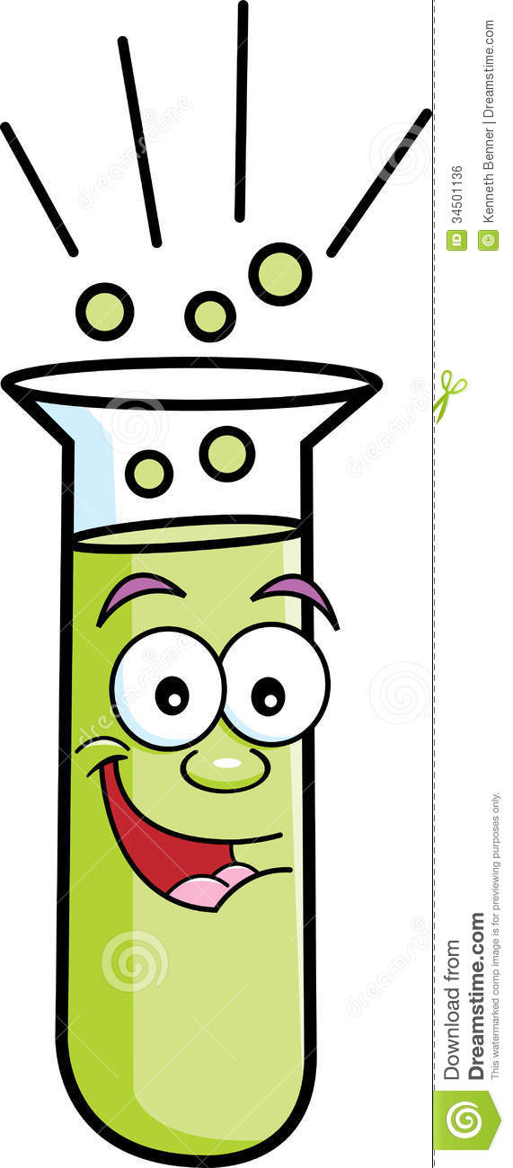 Cartoon Test Tube