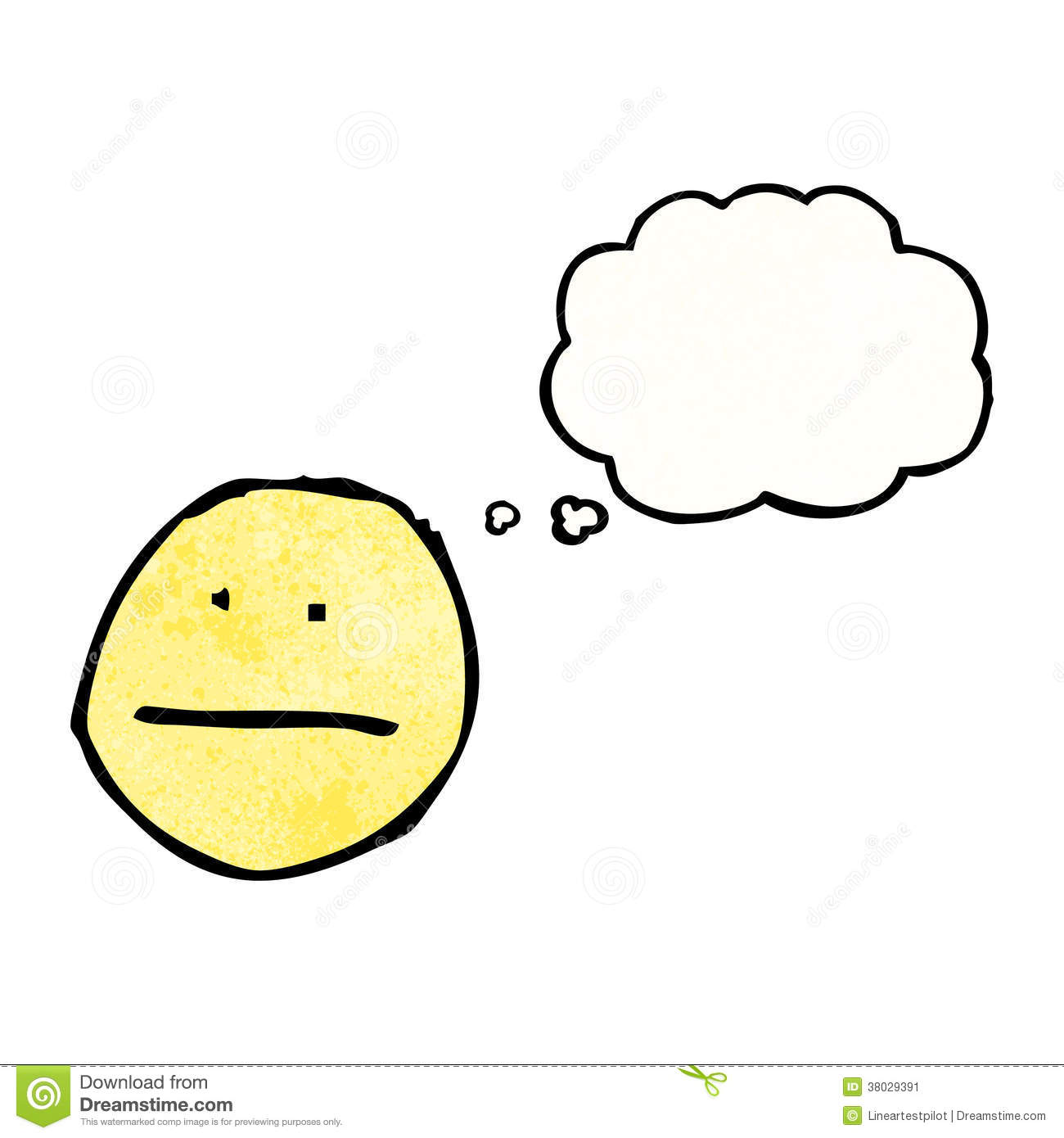 More similar stock images of cartoon thinking face symbol