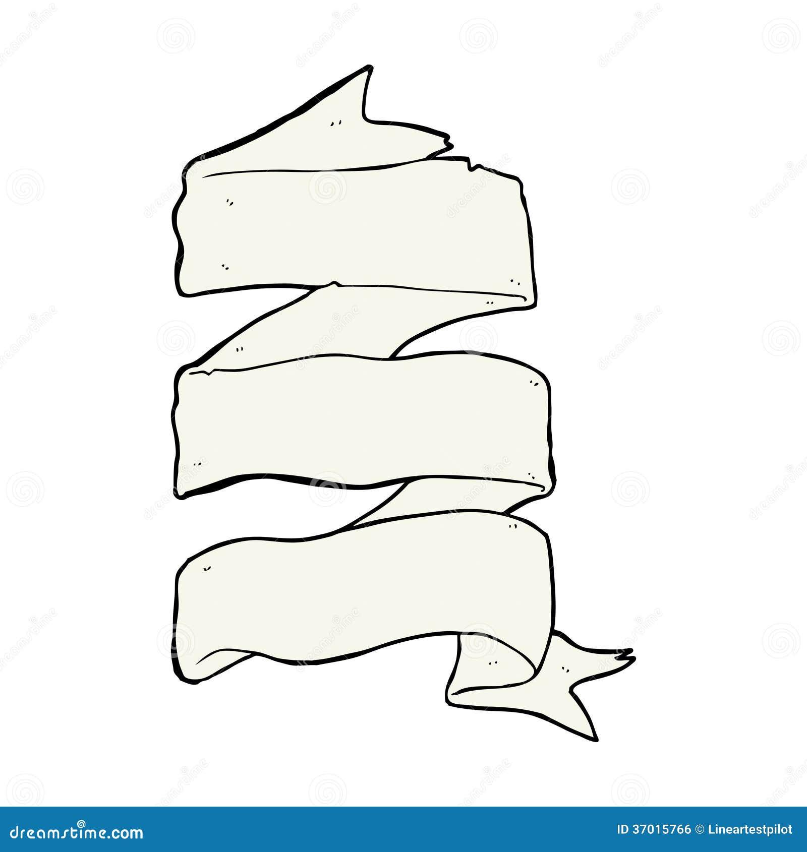 cartoon three layer scroll banner stock vector illustration of