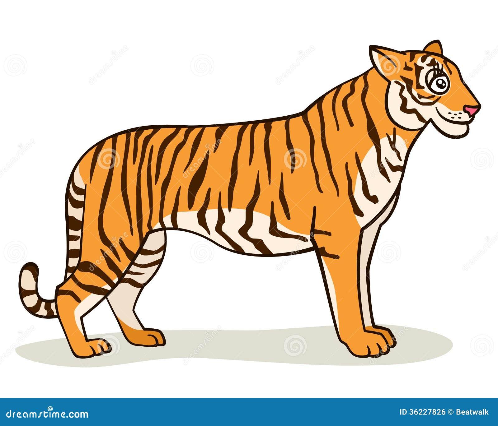 Vector Illustration Of Tiger Cartoon Royalty Free Cliparts ...