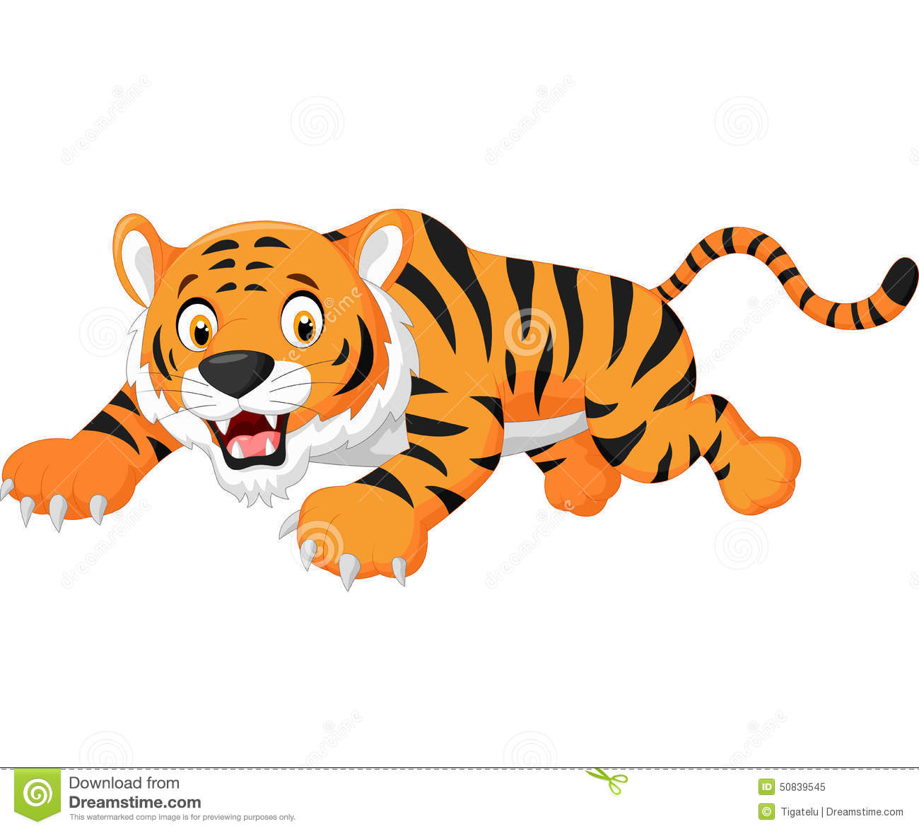 Cartoon Tiger Jumping Stock Vector - Image: 50839545
