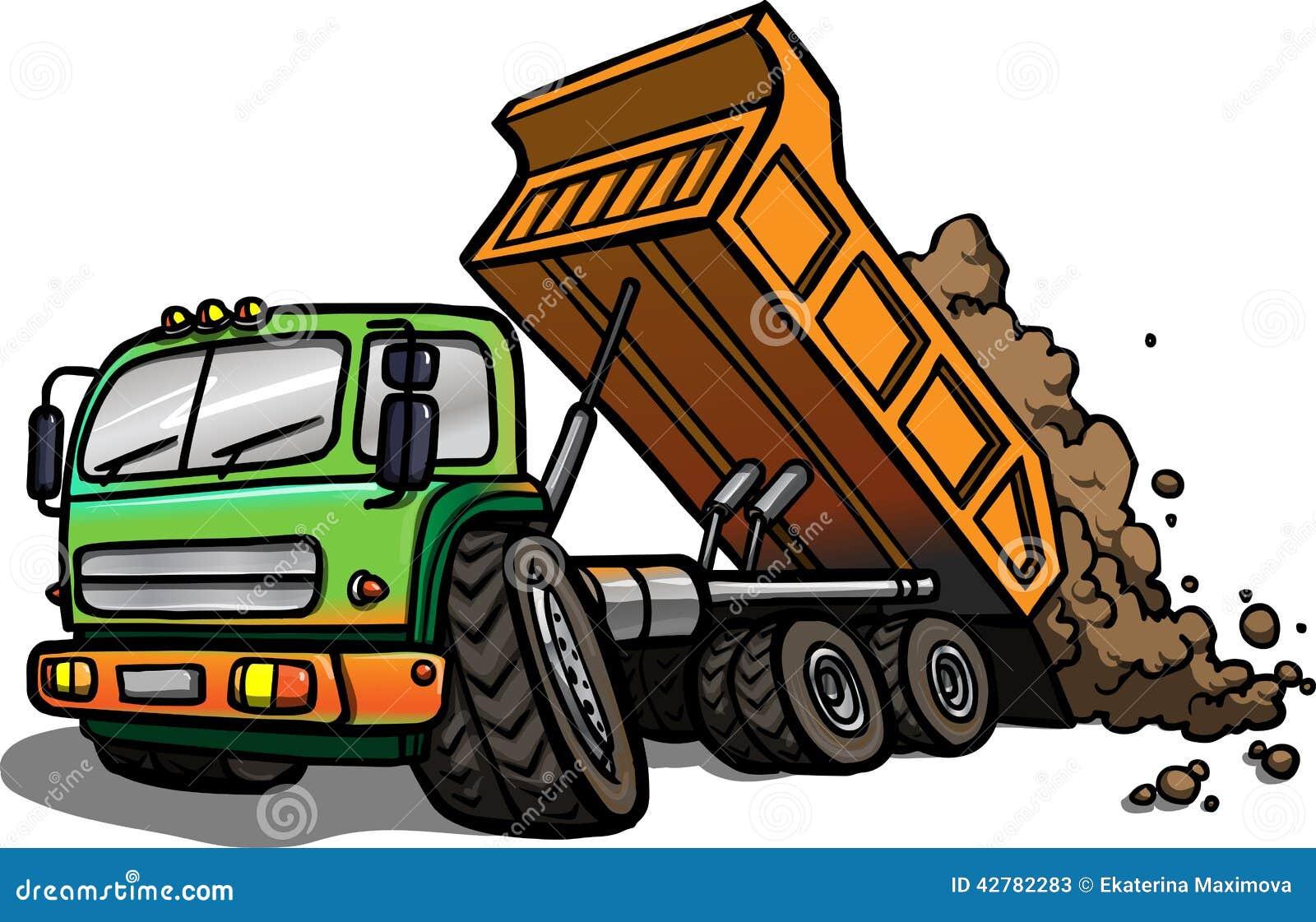 Cartoon Tipper Truck Isolated Stock Illustration Illustration of