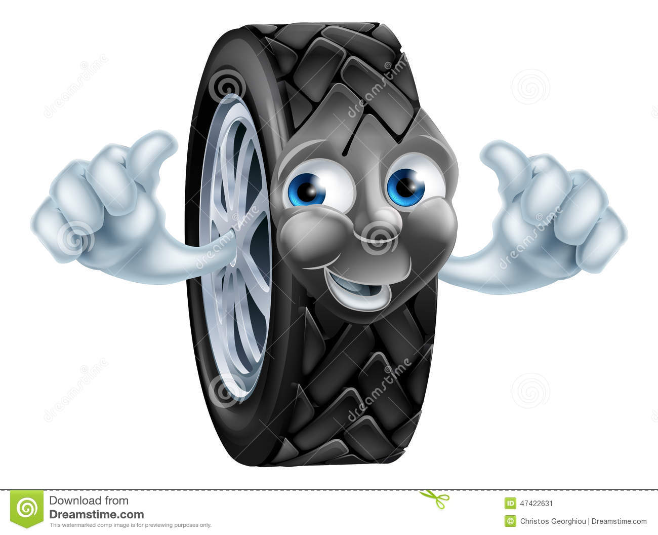How To Read A Tire >> Cartoon Tire Mascot Stock Vector - Image: 47422631