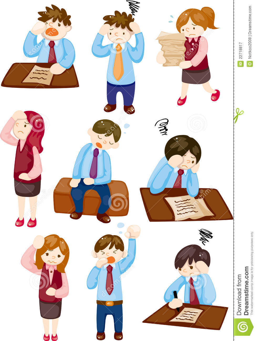 Cartoon Tired Businessman Royalty Free Stock Photography - Image ...