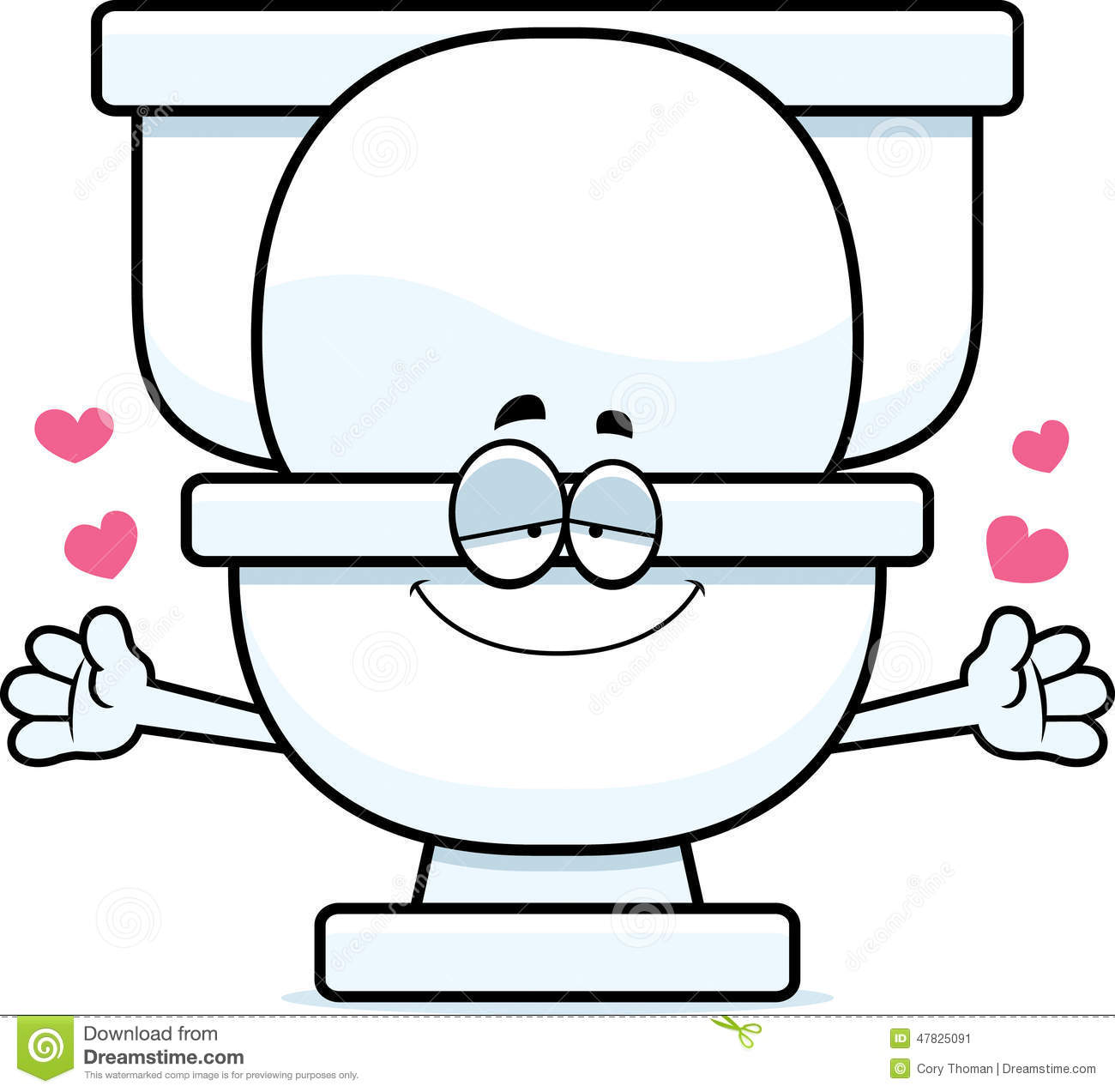 Cartoon Toilet Hug Stock Vector Image 47825091