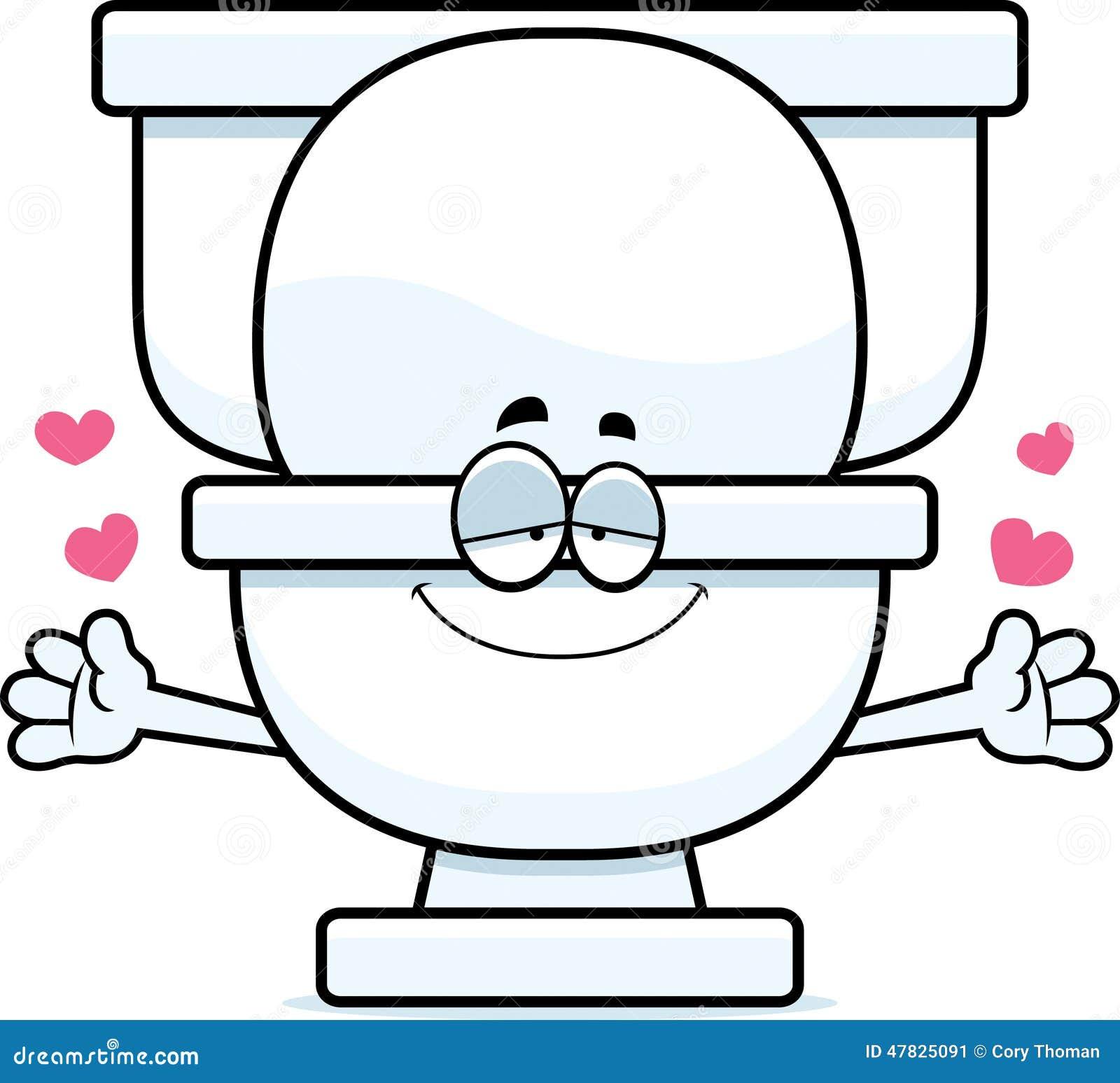 Design Your Bathroom Cartoon Toilet Hug Stock Vector Image 47825091