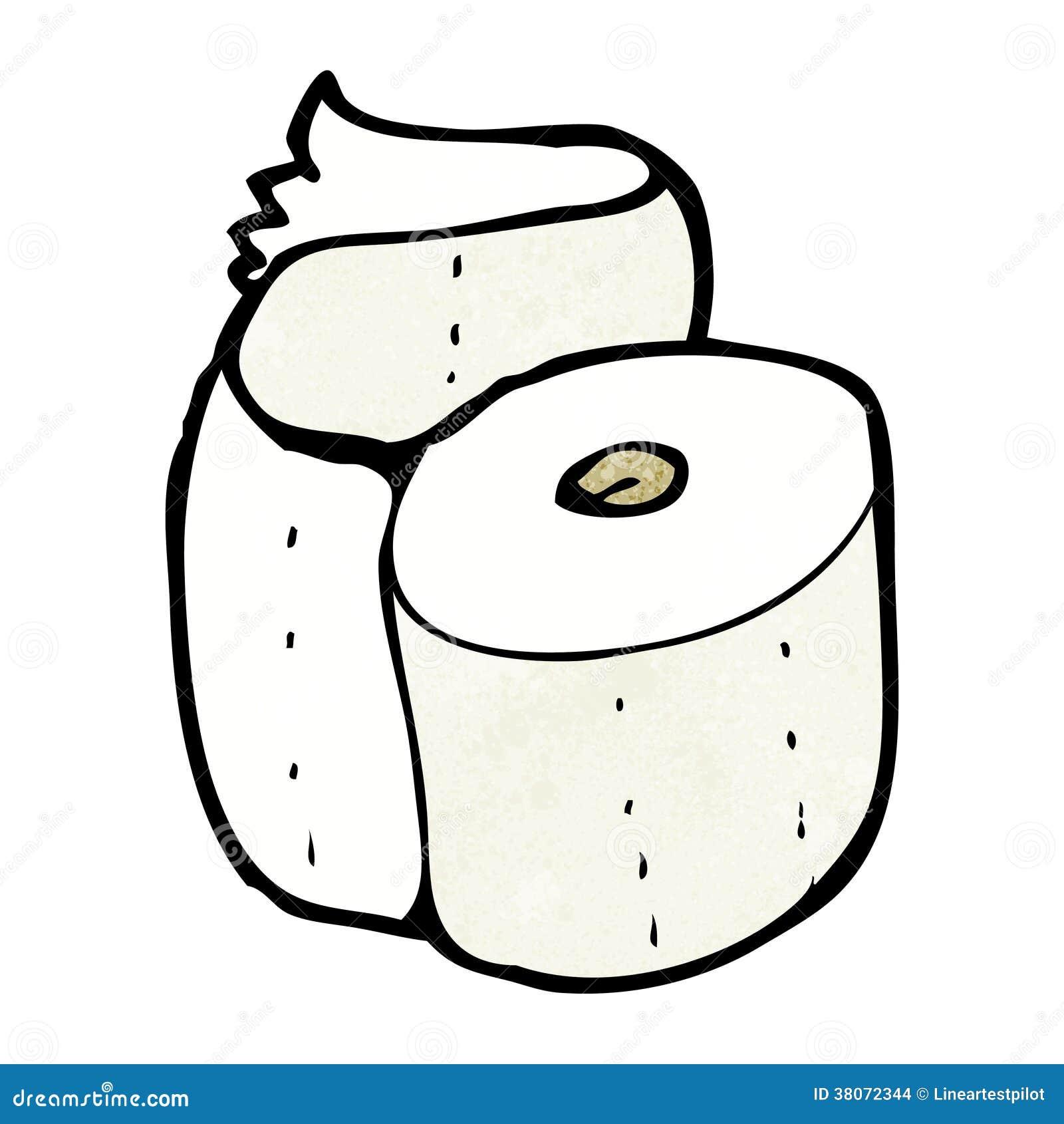Cartoon toilet roll stock illustration. Illustration of ...