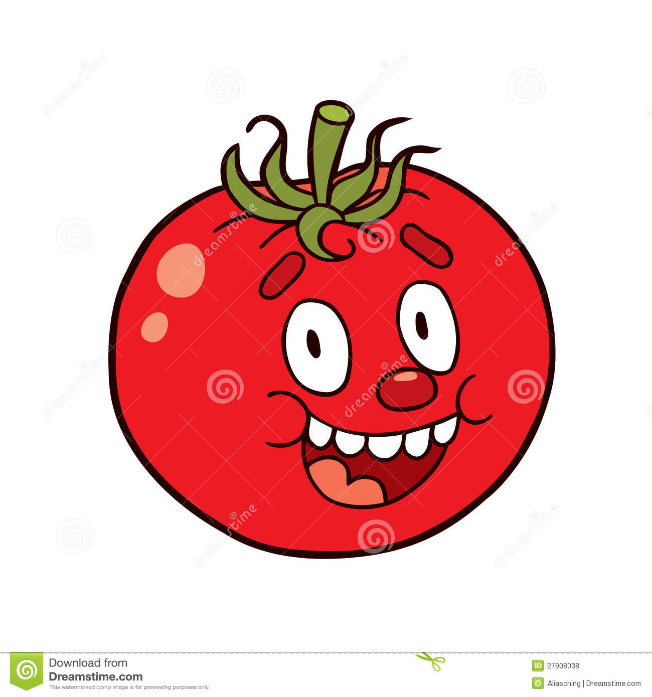 Cartoon Tomato Plant f...