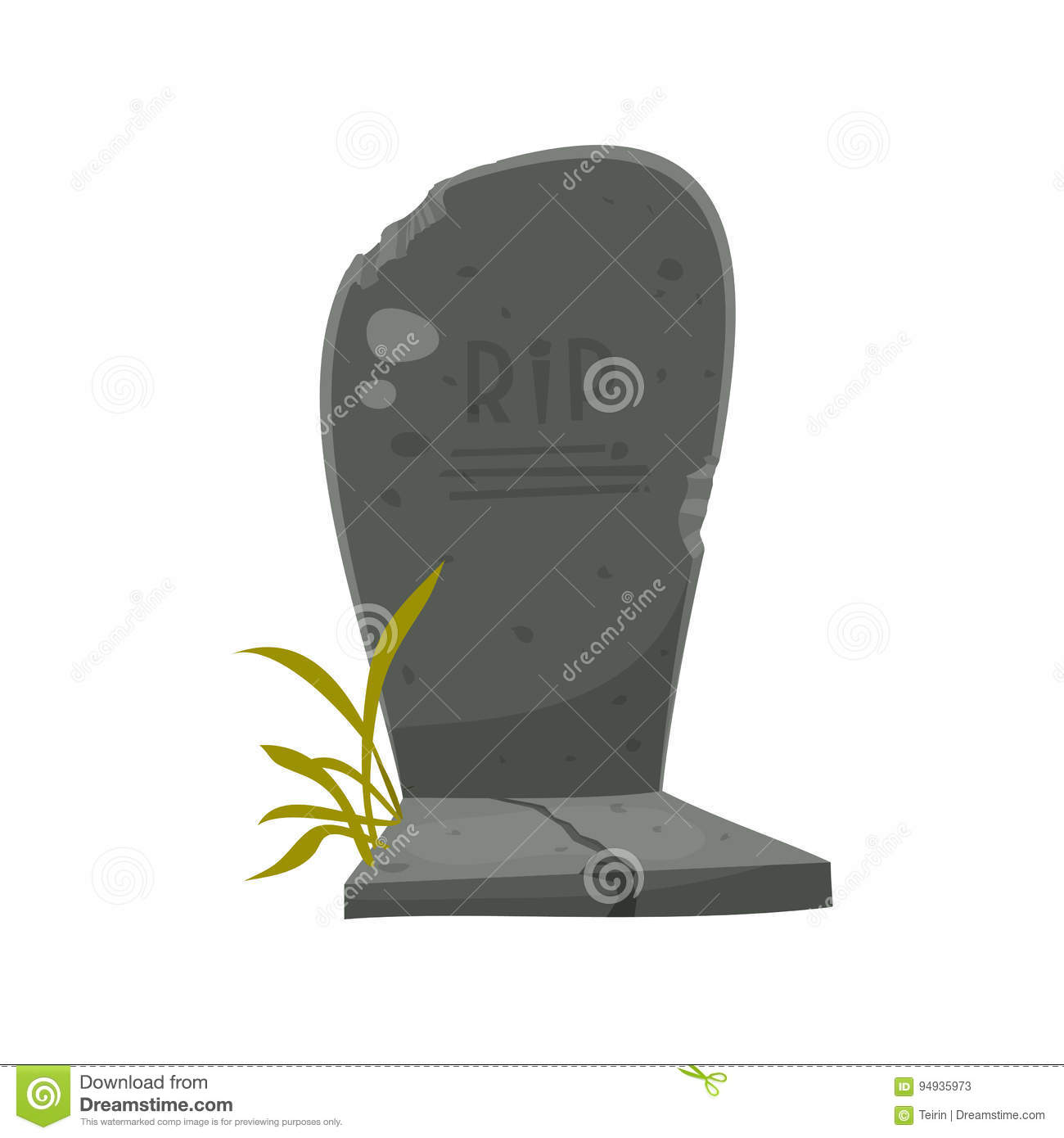 cartoon tombstone with rip illustration of a funny cartoon halloween