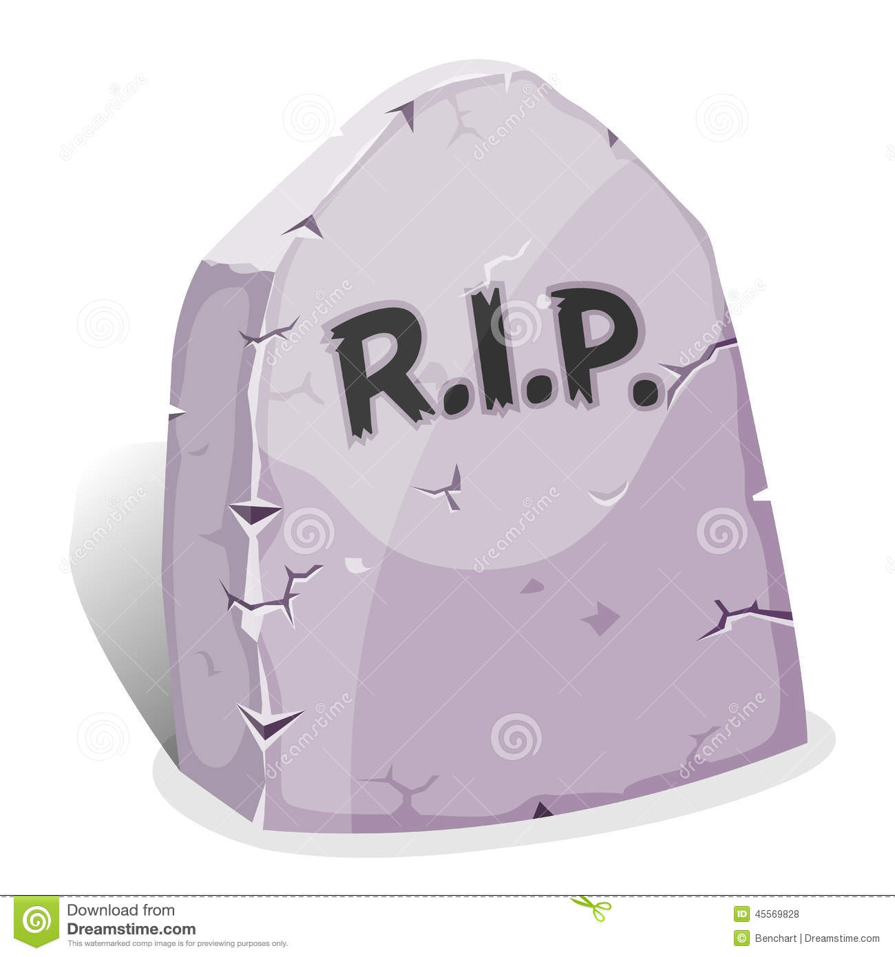 Illustration of a funny cartoon halloween tombstone for graveyard ...