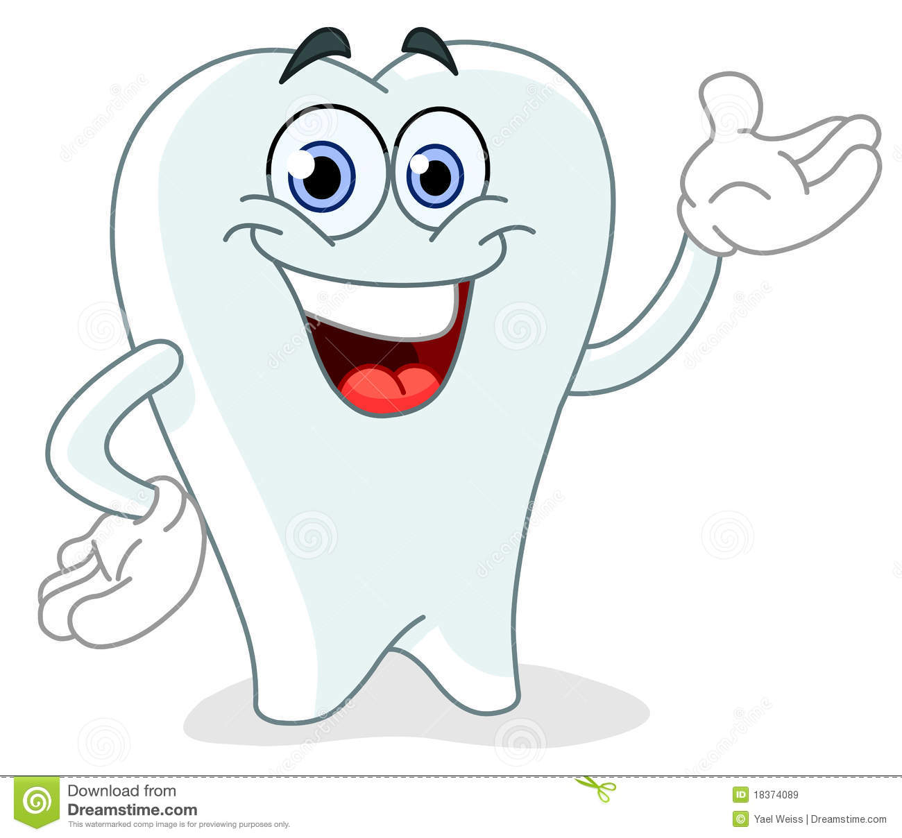 Cartoon Tooth Royalty Free Stock Images - Image: 18374089