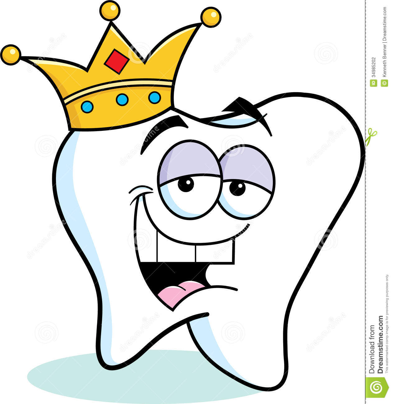 Cartoon Tooth Wearing A Crown Stock Photography - Image: 34985202