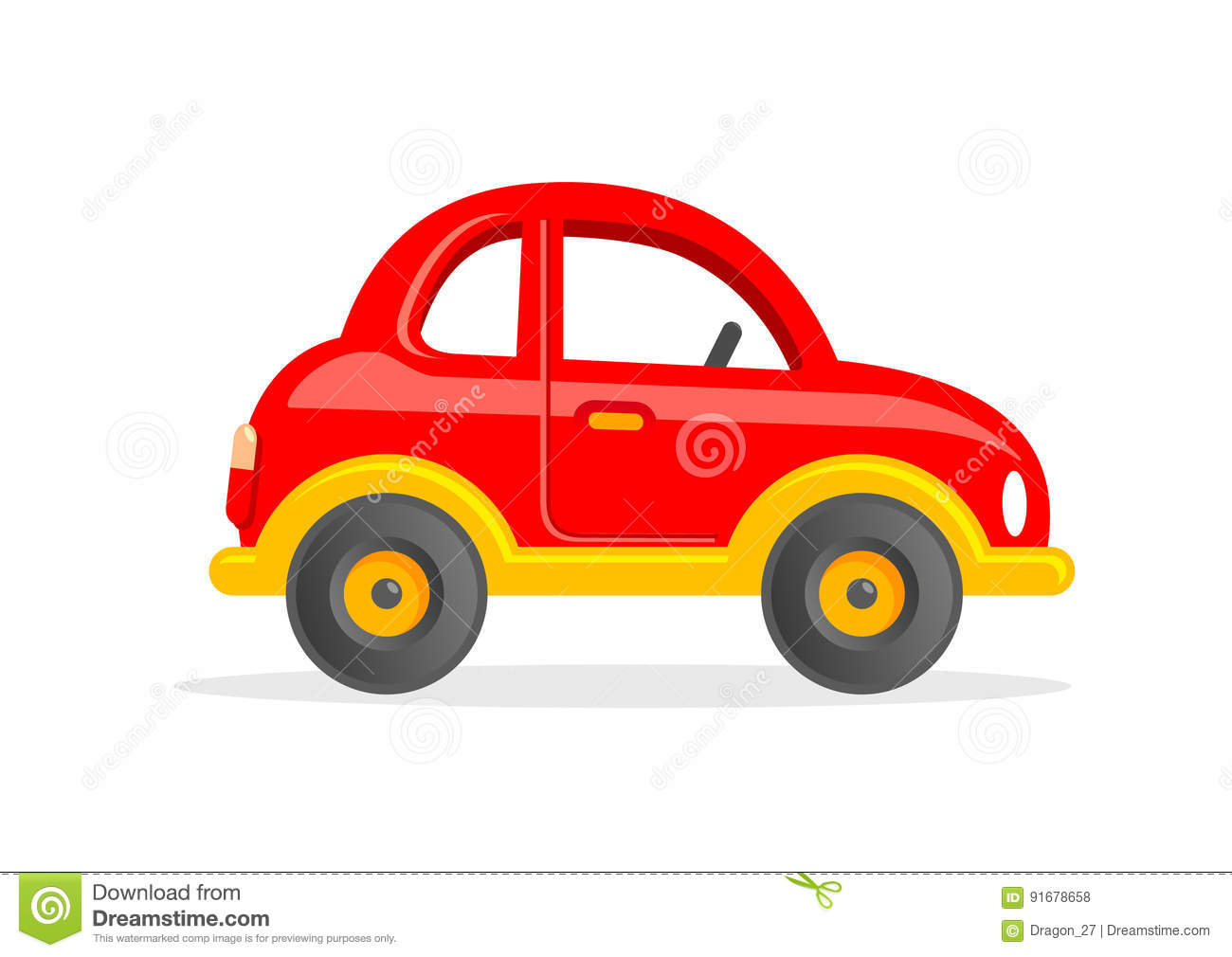 Cartoon Toy Car Vector Illustration Stock Vector Illustration Of