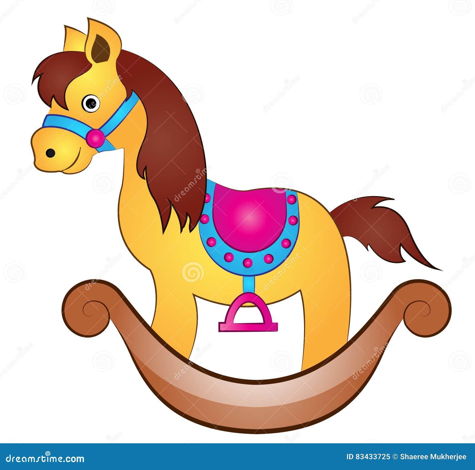 Cartoon Toy Horse Stock Vector Illustration Of Craft 83433725