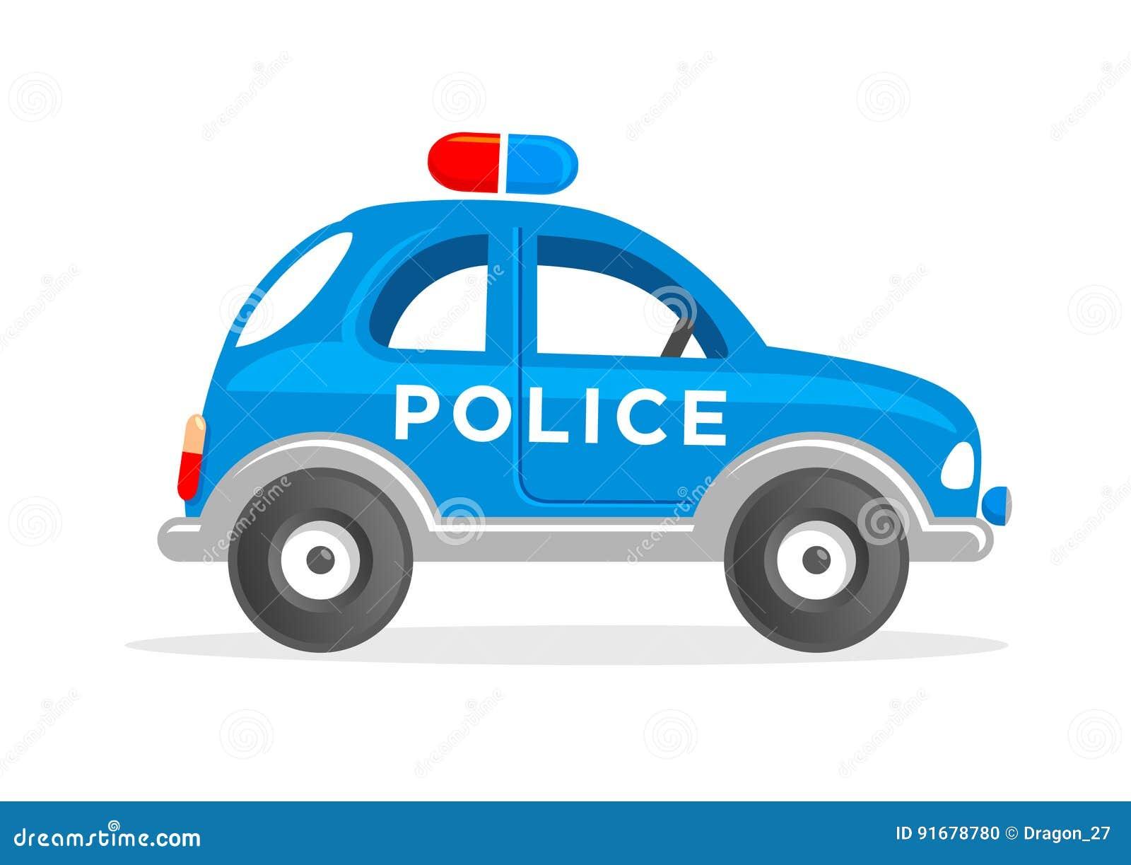 Cartoon Toy Police Car Vector Illustration Stock Vector