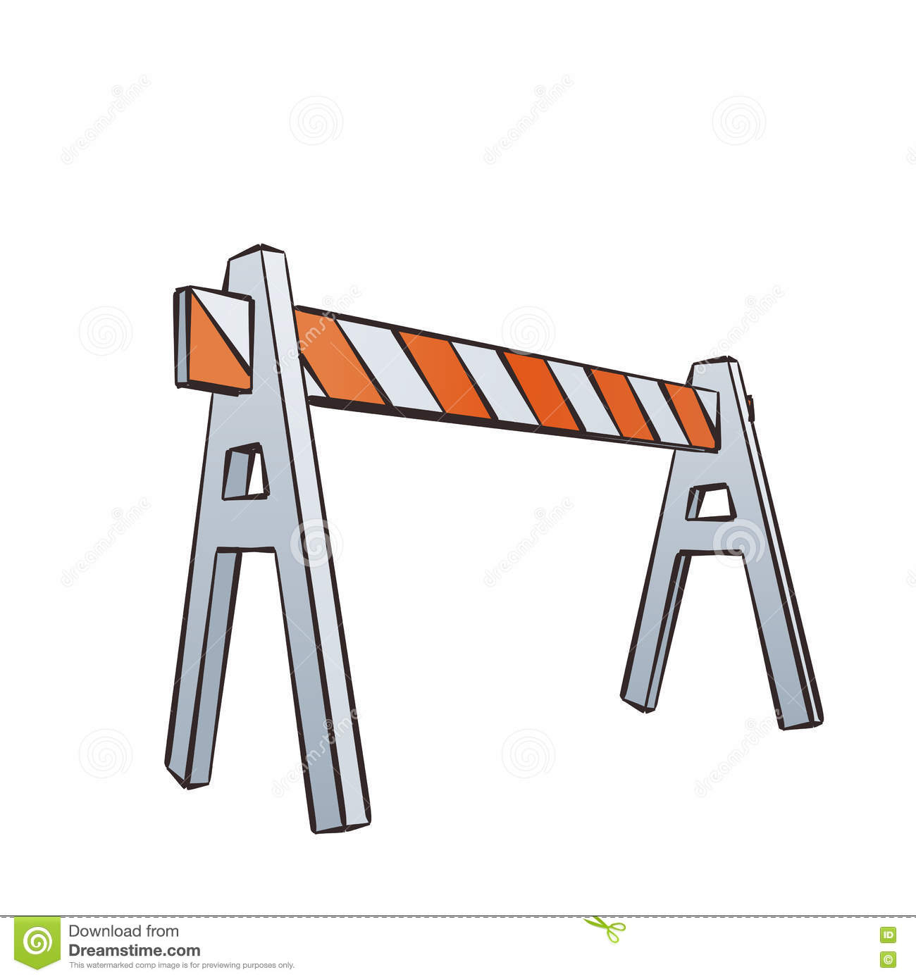 Cartoon traffic barrier stock vector illustration of