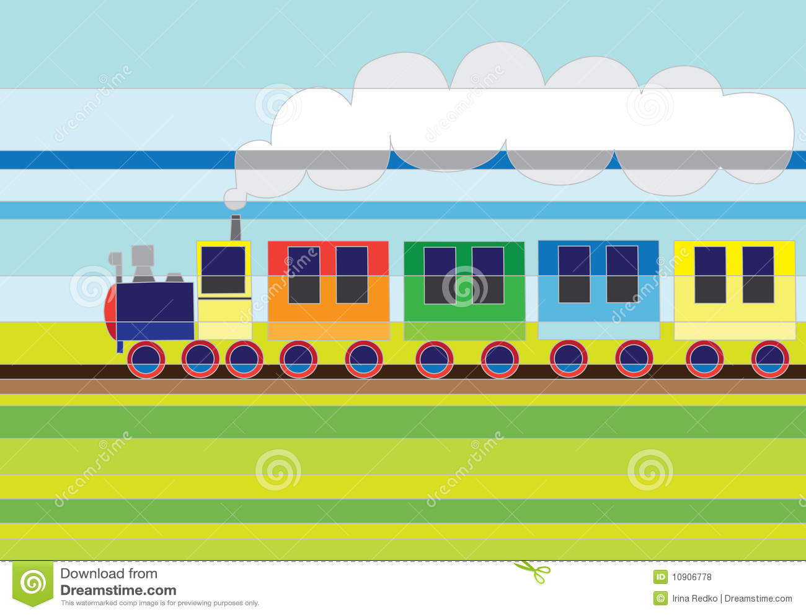 cartoon train royalty free stock photos image 10906778