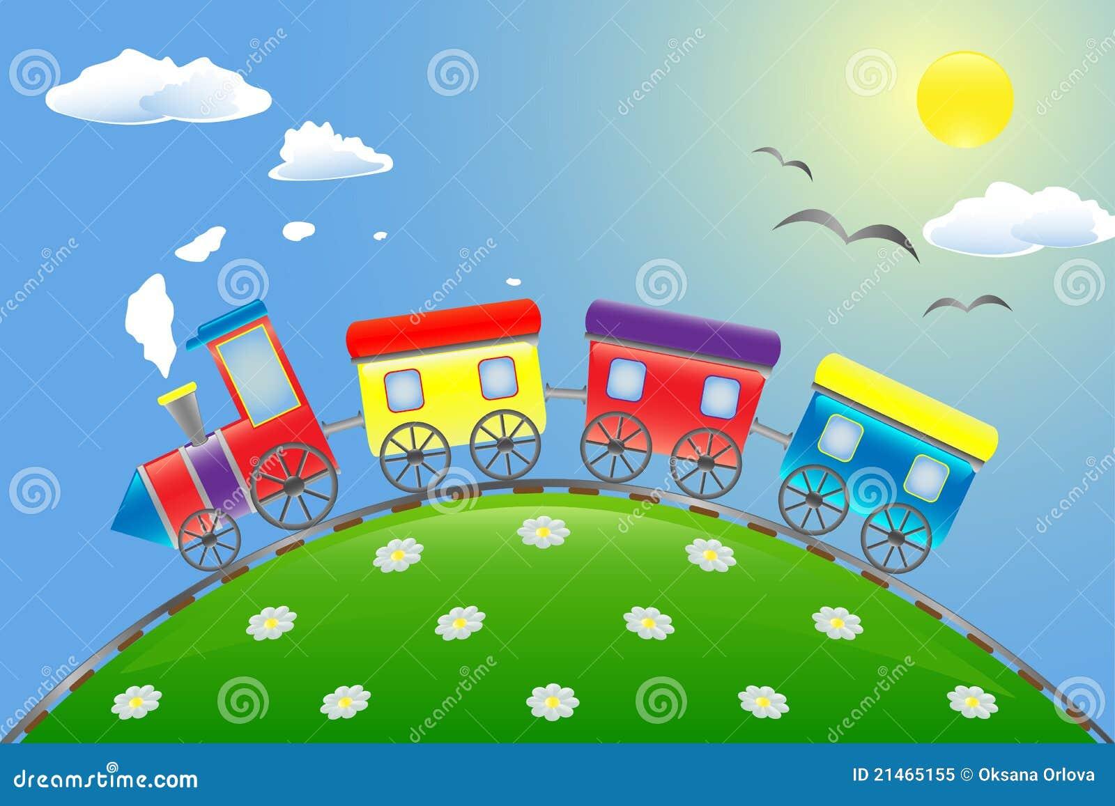 cartoon train royalty free stock photo image 21465155