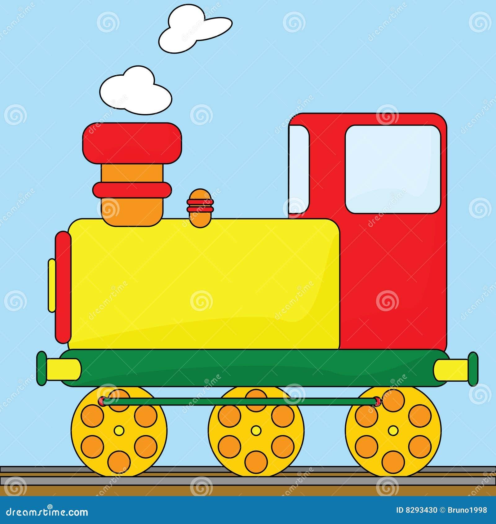 Cartoon Train Stock Vector Illustration Of Steam Color 8293430