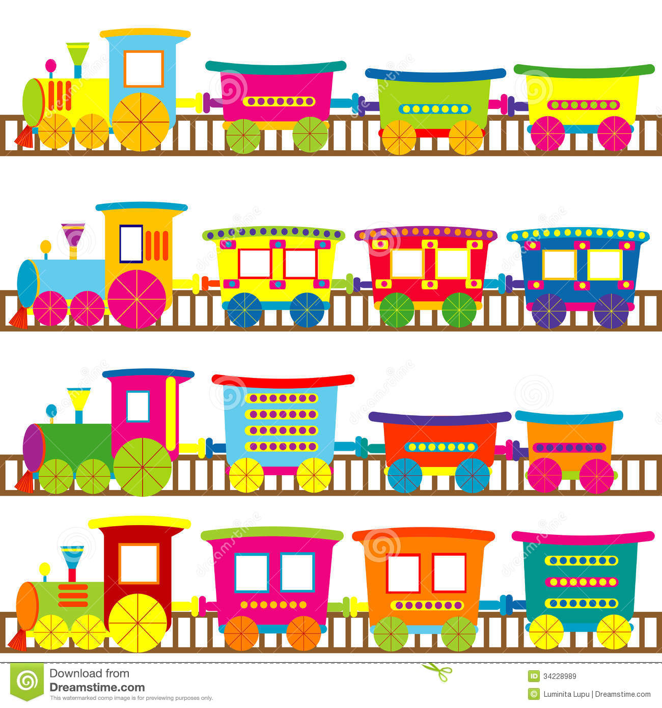 Cartoon Trains Royalty Free Stock Images - Image: 34228989