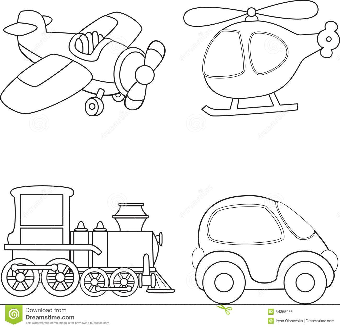 coloring pages trains transportation - photo#45