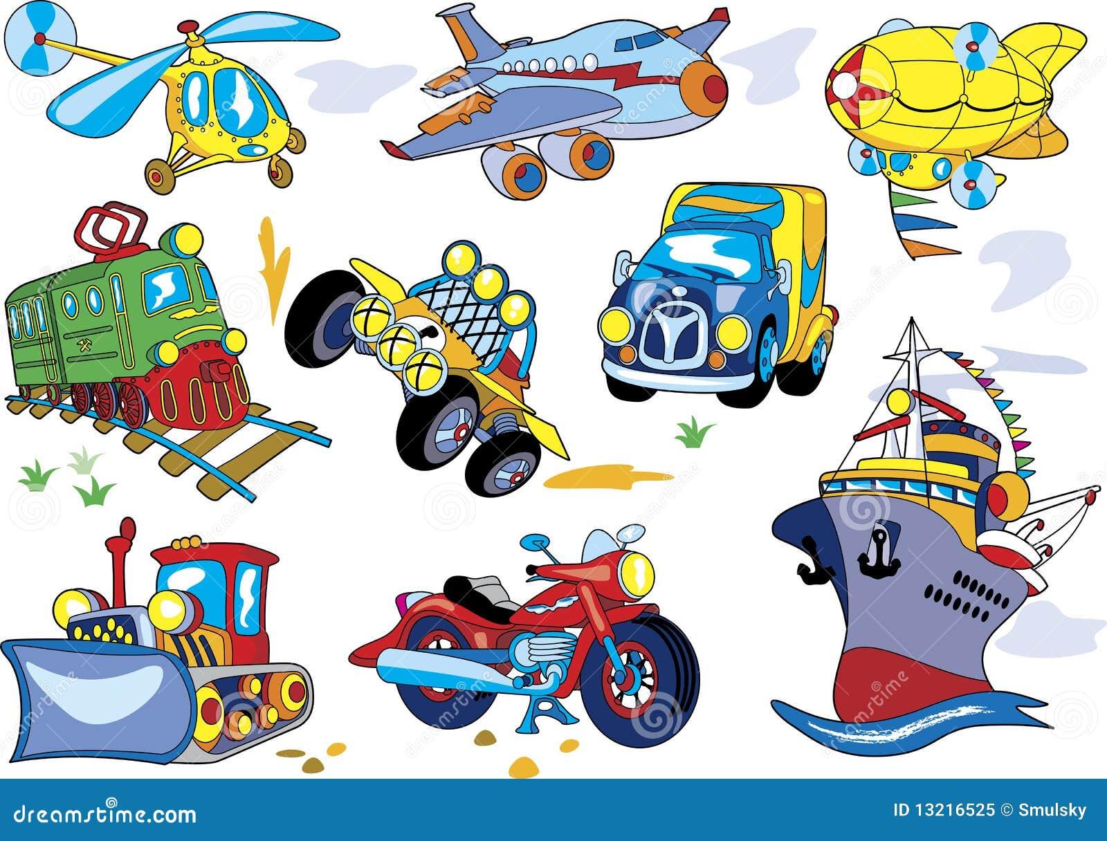 Cartoon Transport Set Stock Vector Illustration Of Cargo 13216525