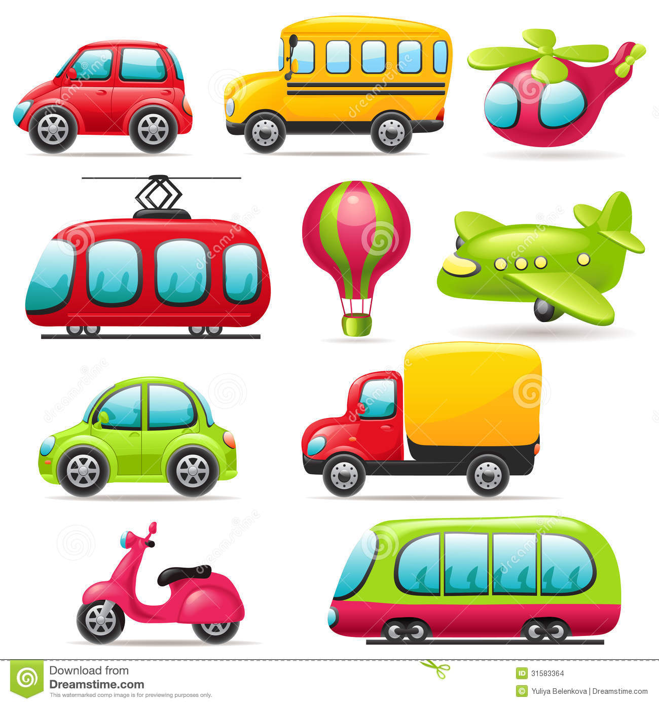 Cartoon Transport Set Stock Images - Image: 31583364