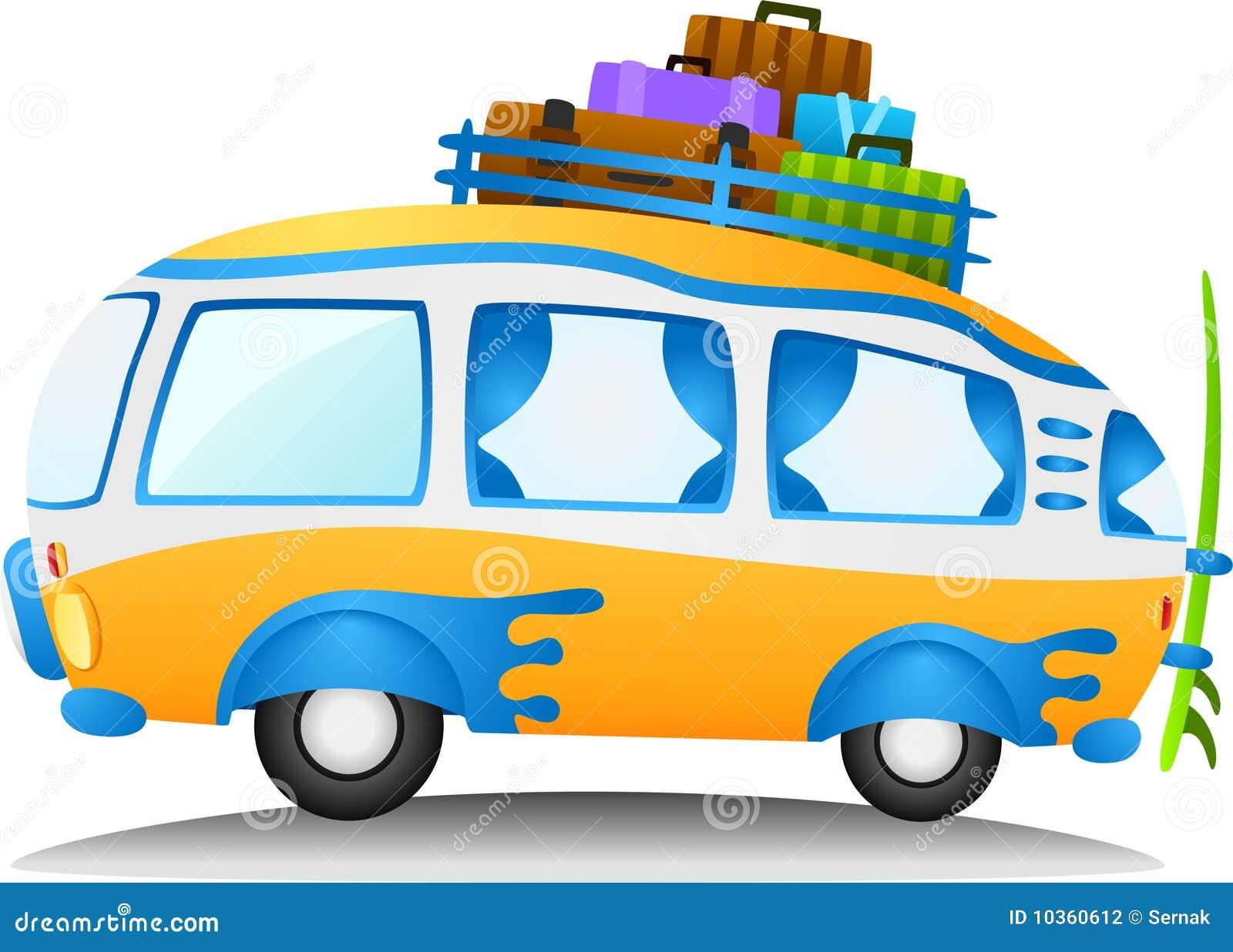 Cartoon Travel Van Stock Vector Illustration Of Retro