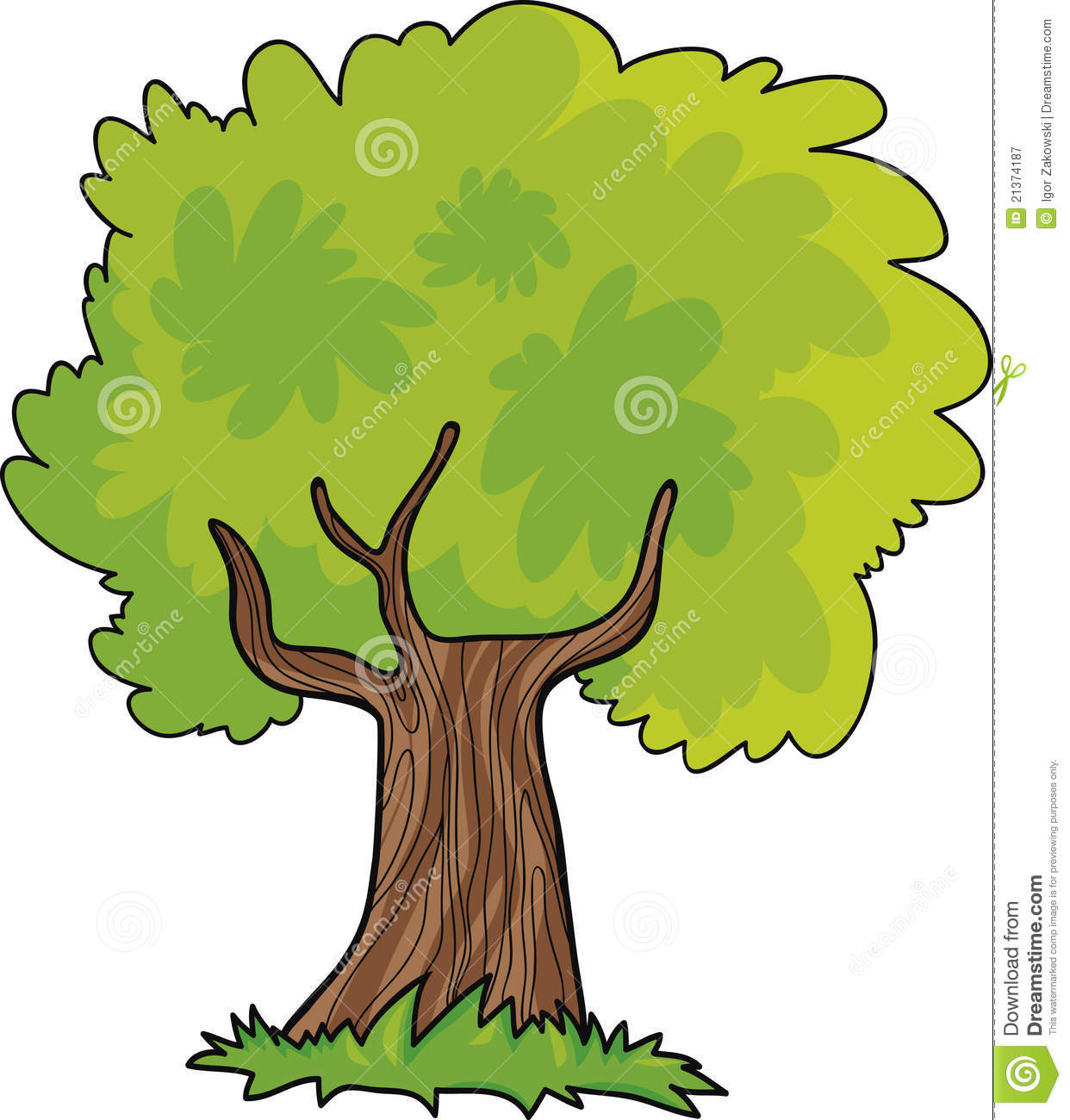 cartoon tree stock vector image of green summer spring 21374187. Black Bedroom Furniture Sets. Home Design Ideas
