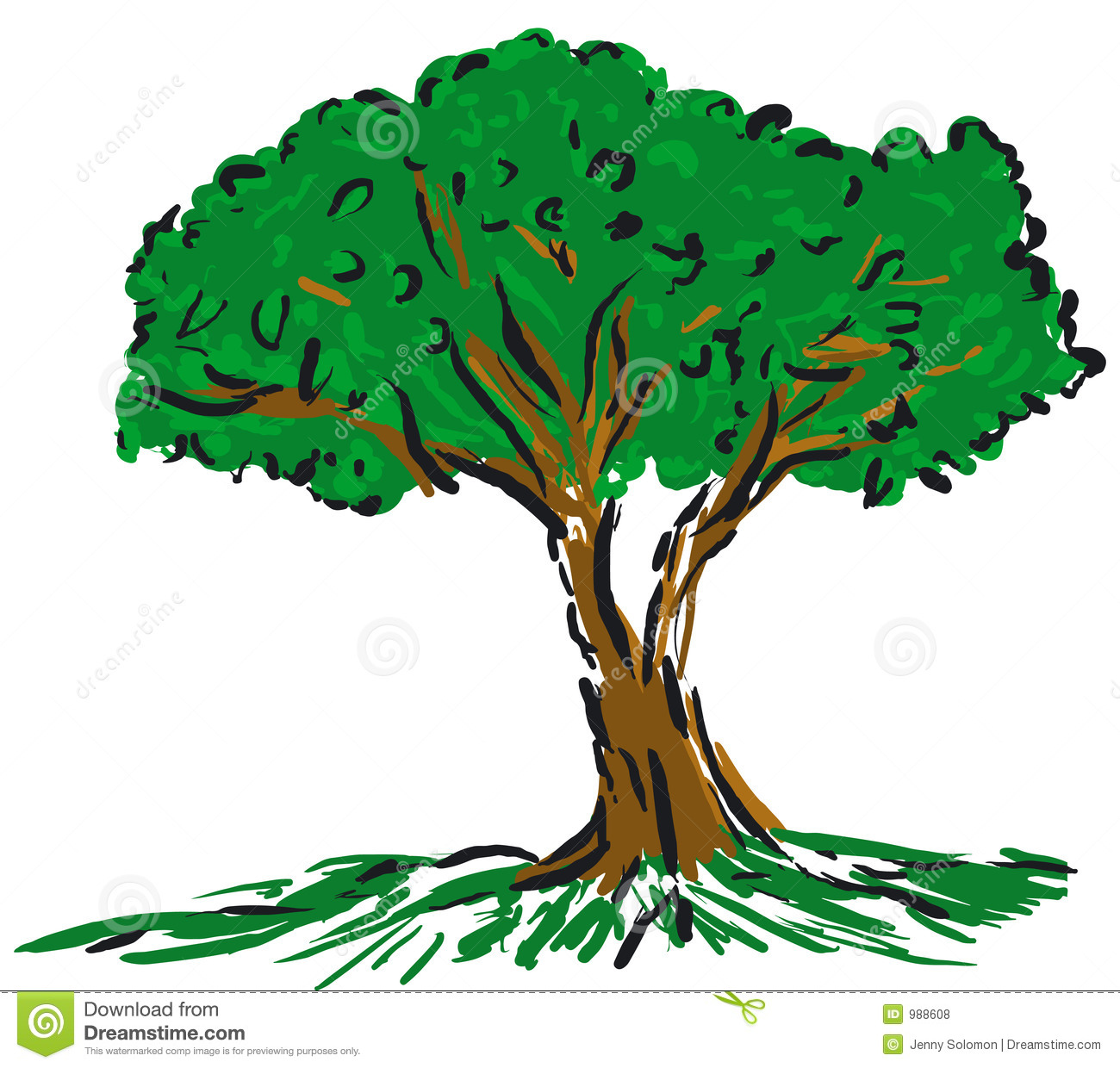 Cartoon Tree Stock Vector Illustration Of Digital Nature 988608 Collection of cartoon tree images (46). dreamstime com