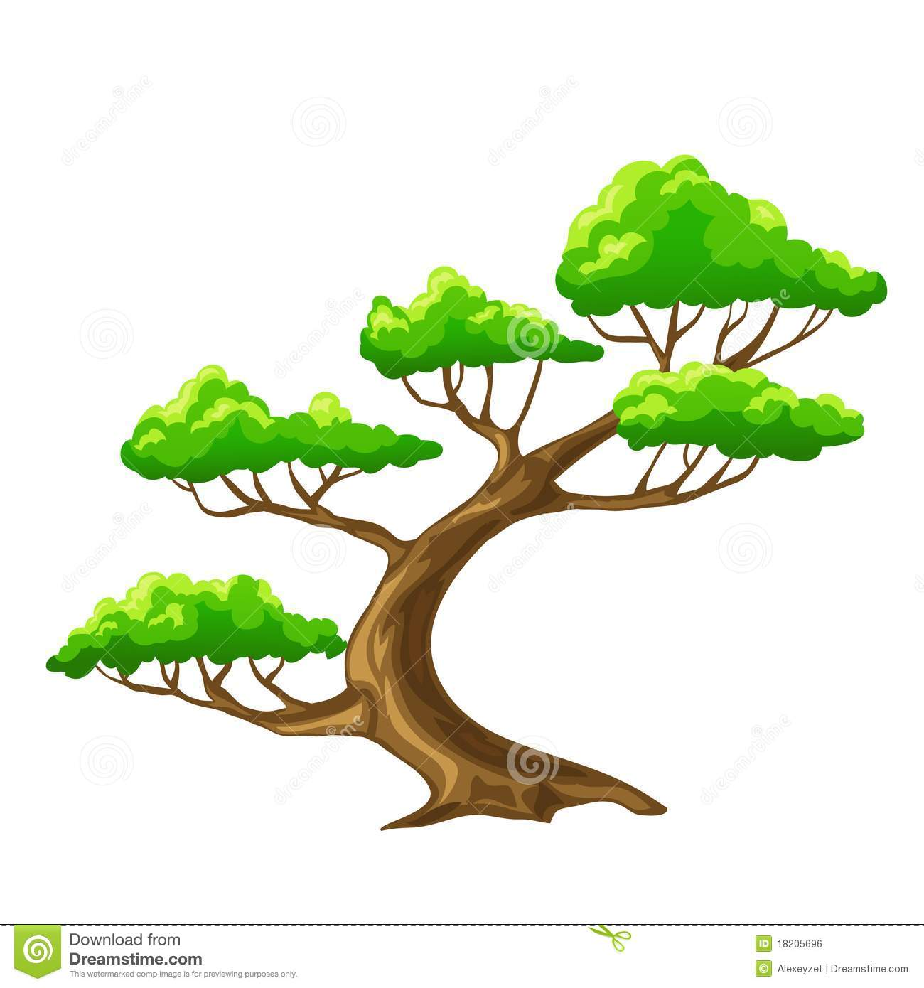 Cartoon Tree Bansai With White Background Stock Vector Illustration Of Trunk Branches 18205696 Cartoon tree branch with leaves 1. dreamstime com