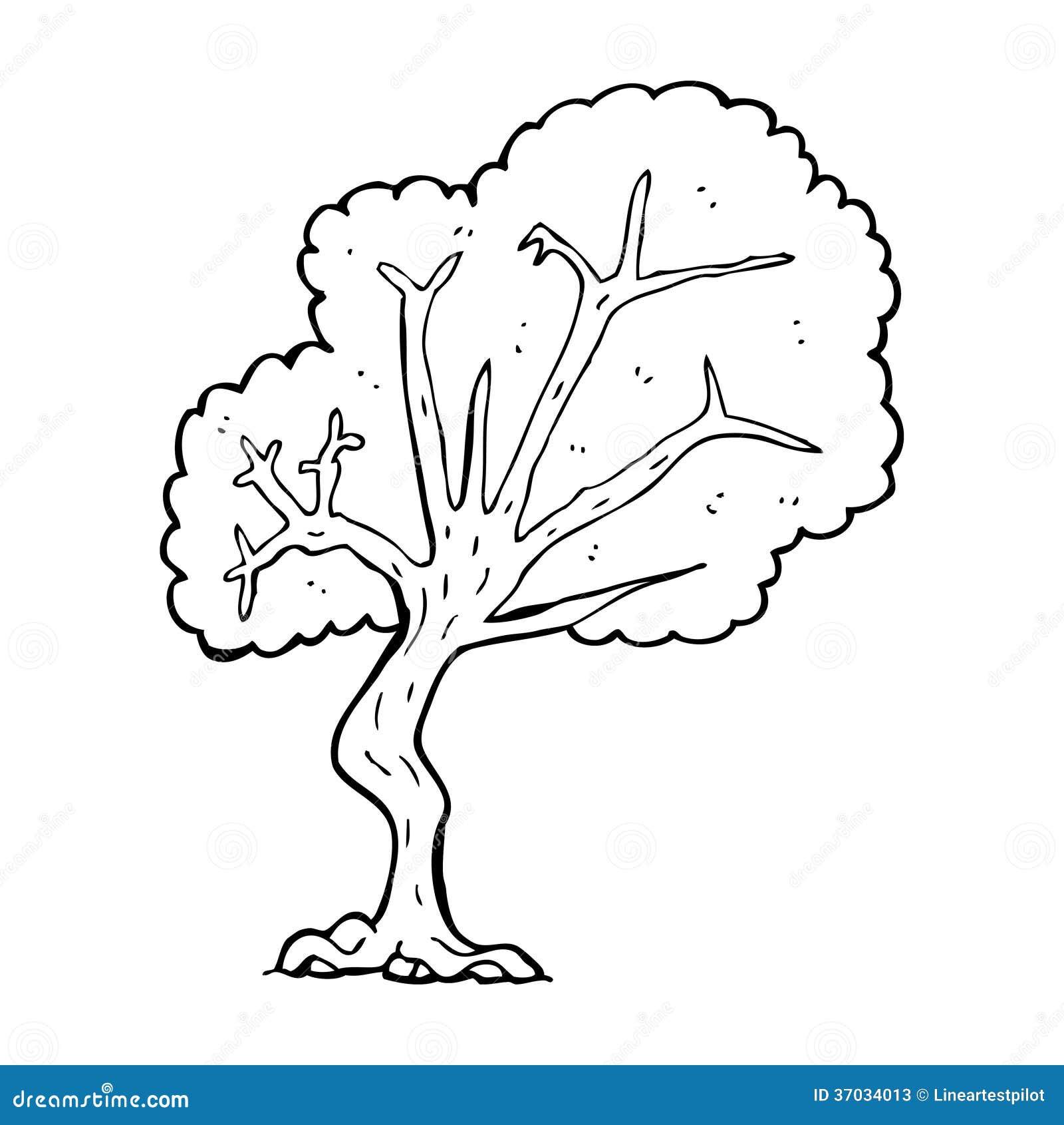Cartoon Tree Stock Illustration Illustration Of Drawn