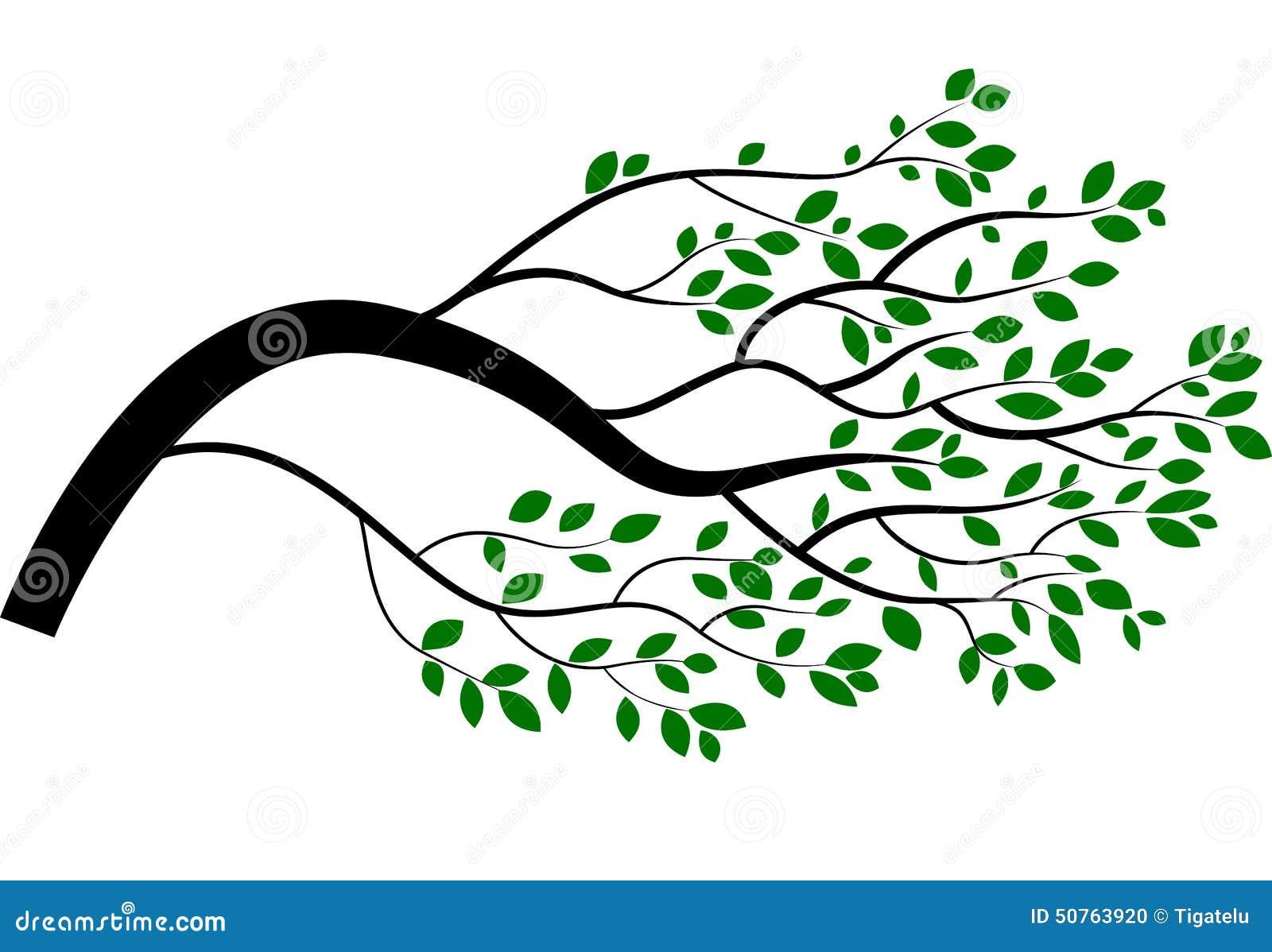 Cartoon Tree Branch Stock Illustration - Image: 50763920