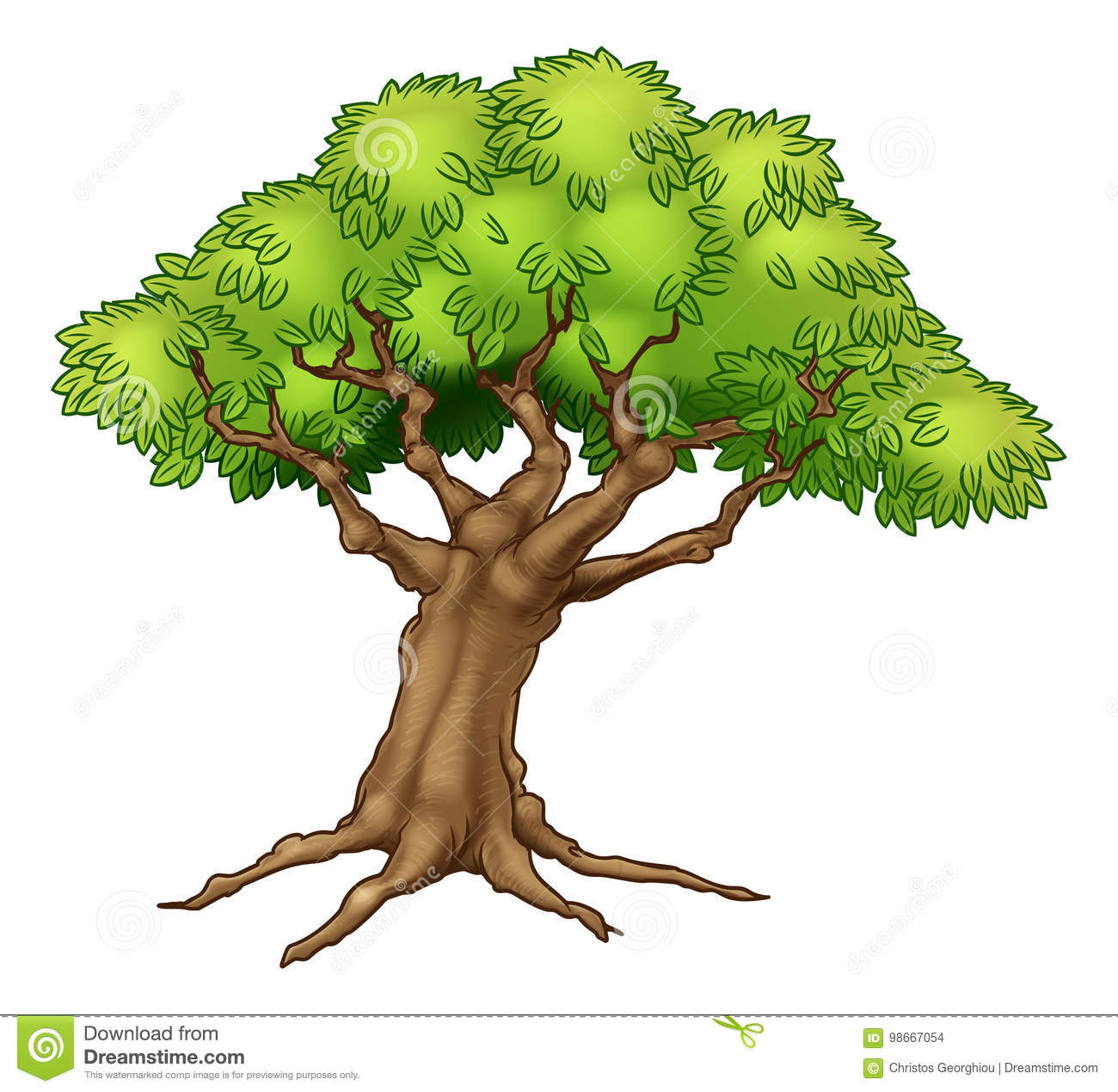 Cartoon Tree Stock Vector Illustration Of Magical Leaves 98667054 Find gifs with the latest and newest hashtags! https www dreamstime com stock illustration cartoon tree illustration drawing roots image98667054