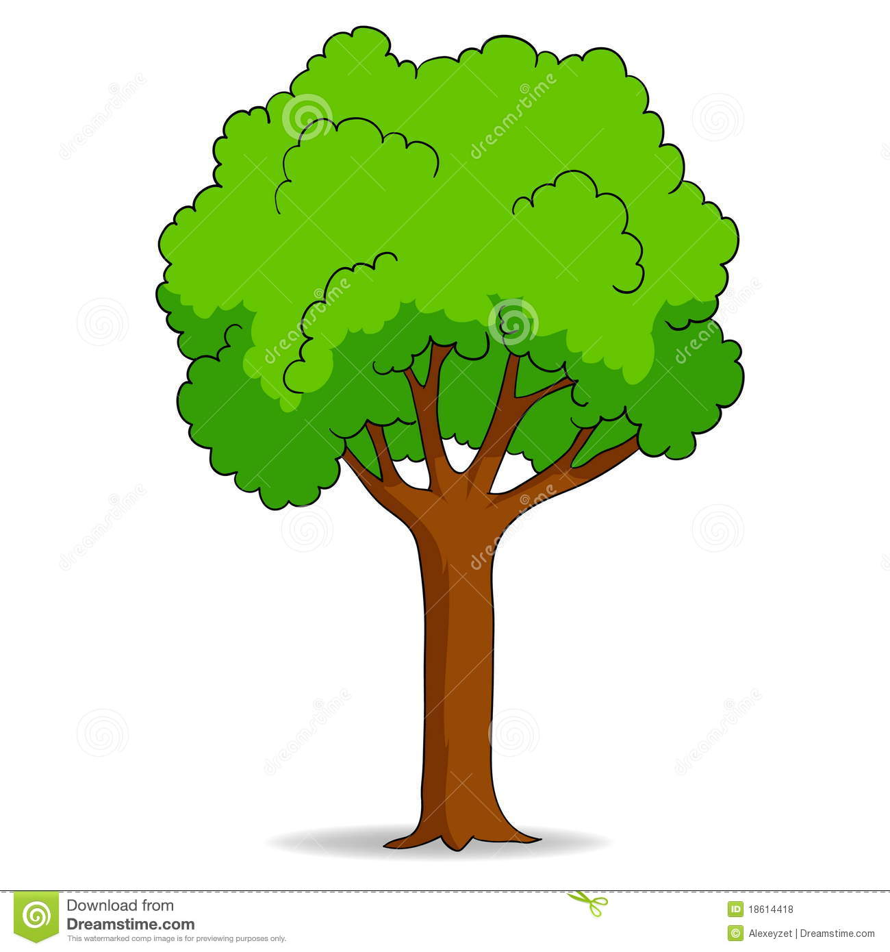 cartoon tree isolated on white background stock vector illustration of life draw 18614418. Black Bedroom Furniture Sets. Home Design Ideas