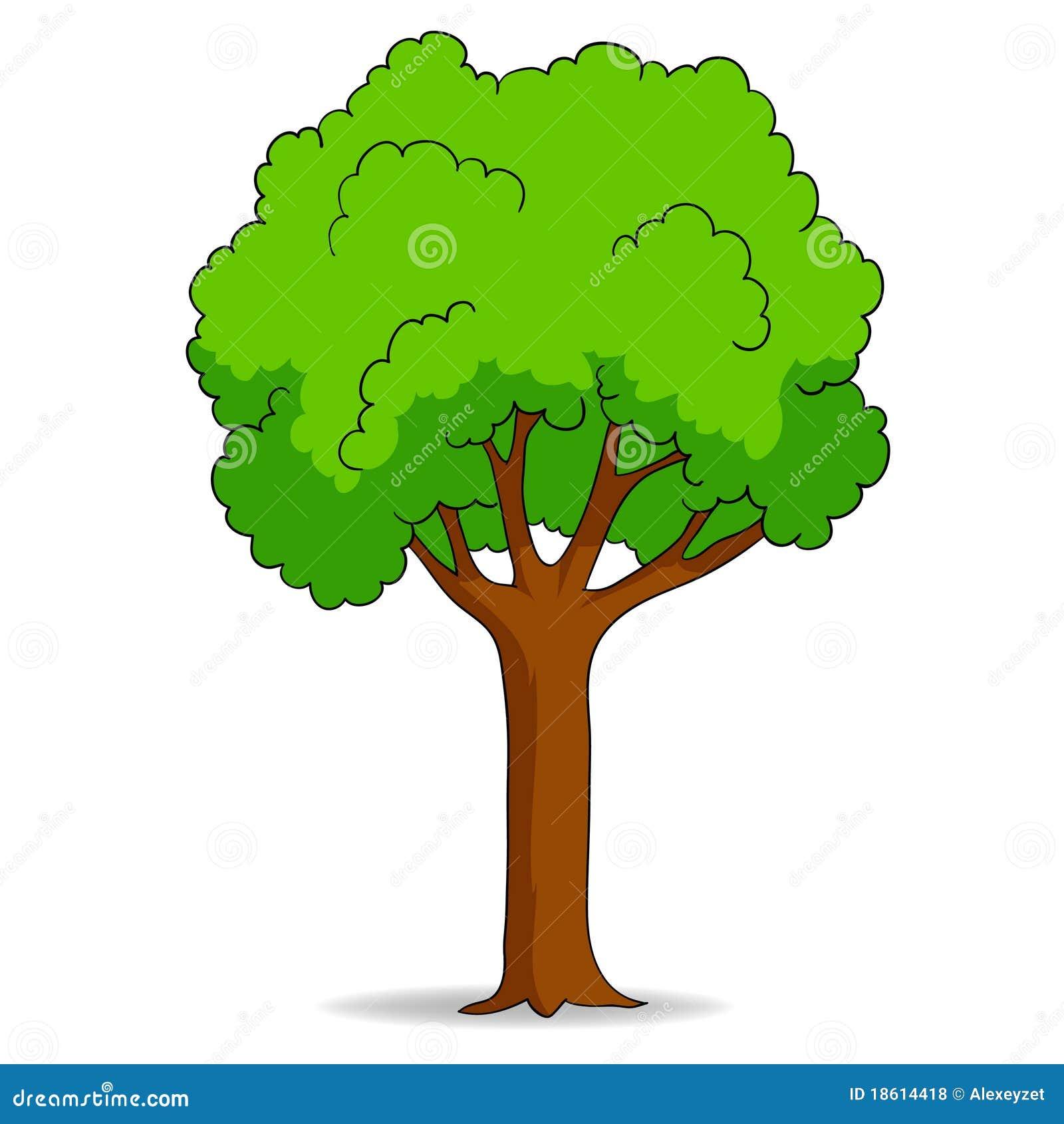 Cartoon tree isolated on white background